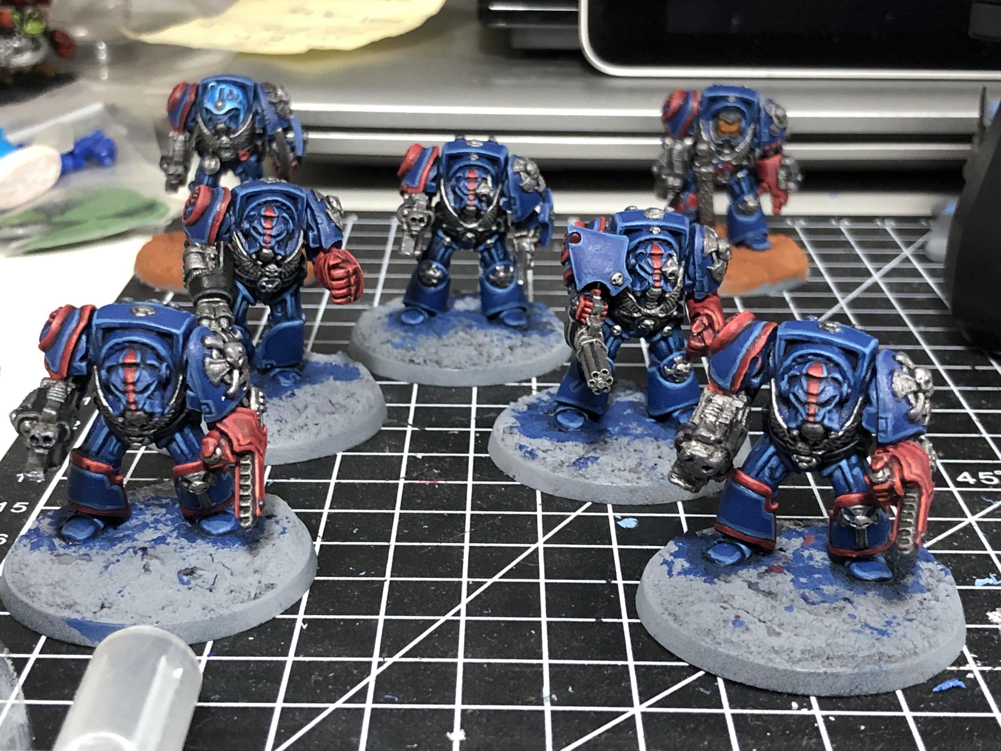 Crimson Fists, Rogue Trader, Rtb9, Space Marines, Terminator Armor, Warhammer 40,000, Work In Progress