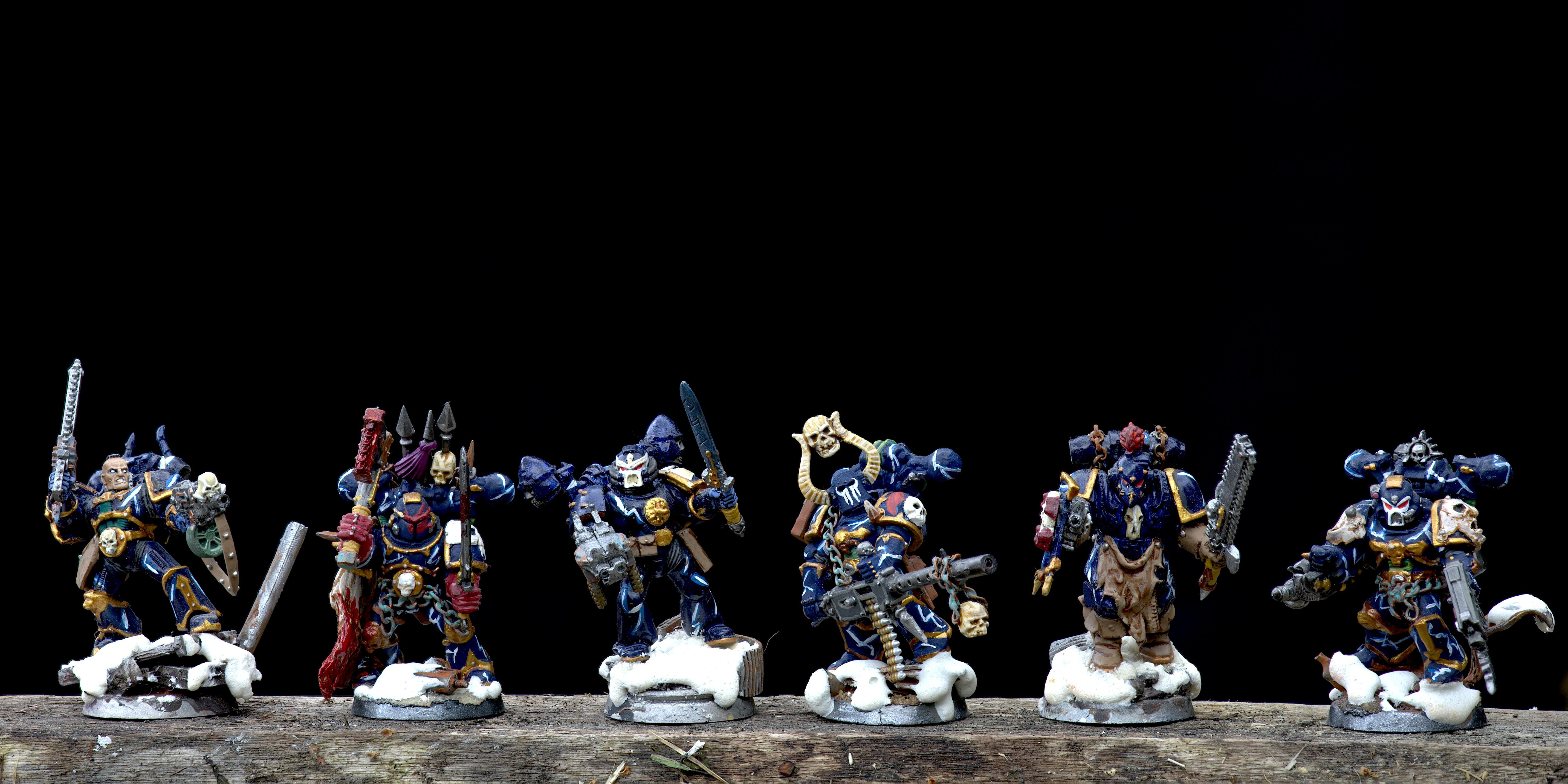 Apothecary, Ave Dominus Nox, Berserk, Berserkers, Berzerk, By Andrey Mishuta, Chaos, Chaos Space Marines, Conversion, Cyrion, Eviscerator, First Claw, Havoc, Heretic Astartes, Kitbash, M.a.k., Mercutian, Night Lords, Outdoors, Regiment, Snow, Talos Valcoran, Trophy, Uzas, Variel, Warhammer 40,000, Xarl