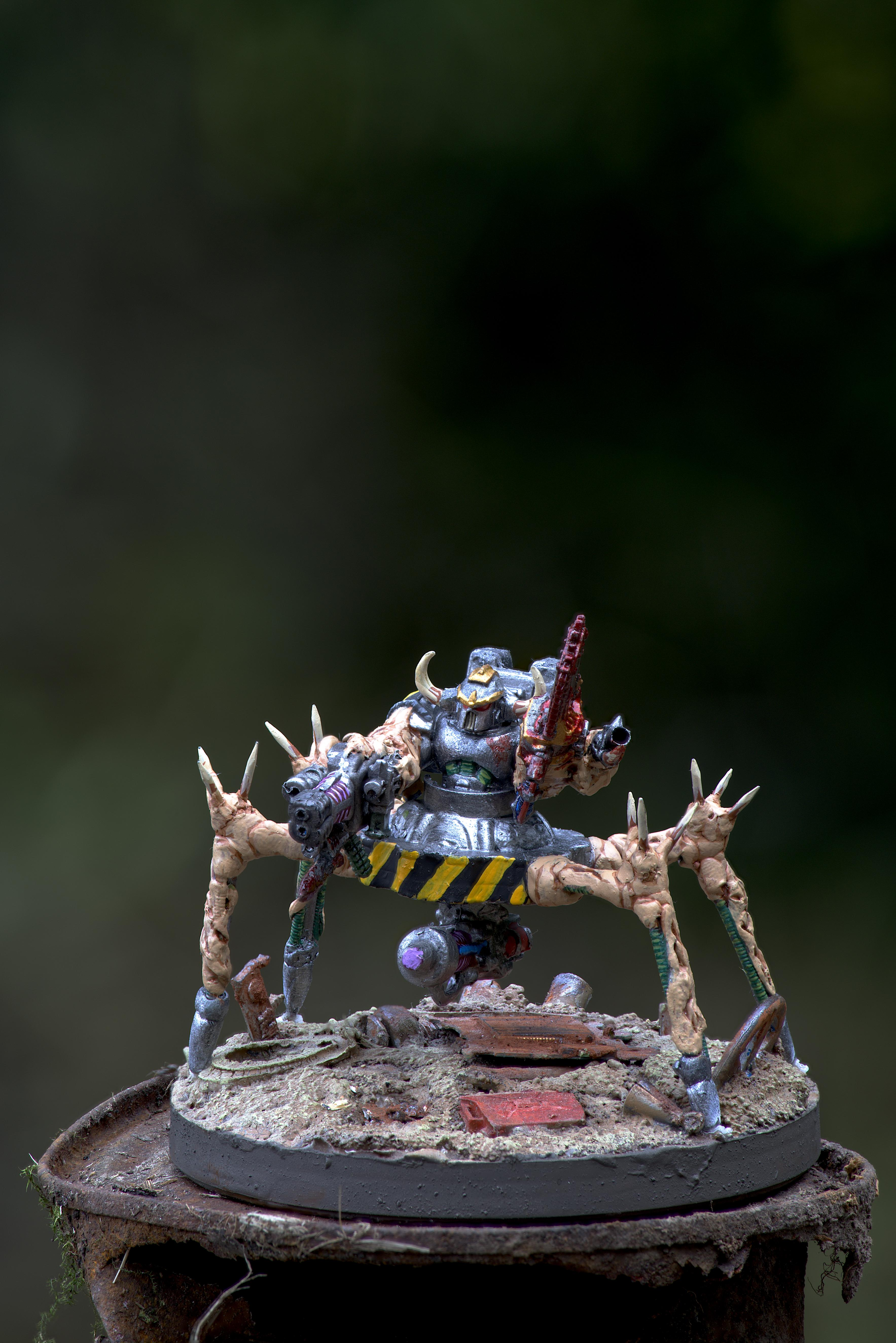 Blood, By Andrey Mishuta, Centaur, Chainfist, Chaos, Chaos Space Marines, Conversion, Greenstuff, Hazard Stripe, Heavy Support, Heretic Astartes, Iron Warriors, Iron Within, Iron Without!, Lightning Claw, M.a.k., Meltagun, Obliterators, Outdoors, Plasma, Scratch Build, Sculpting, Tehnolog, Warhammer 40,000