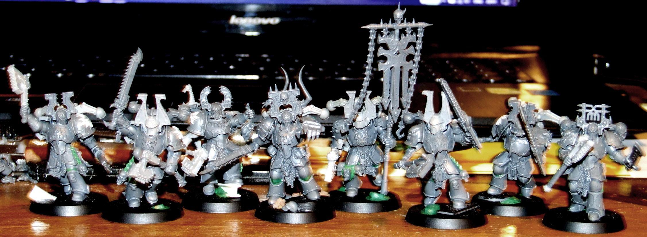 Berserkers, Chaos Space Marines, Conversion, Kitbash, Warhammer 40,000, Work In Progress