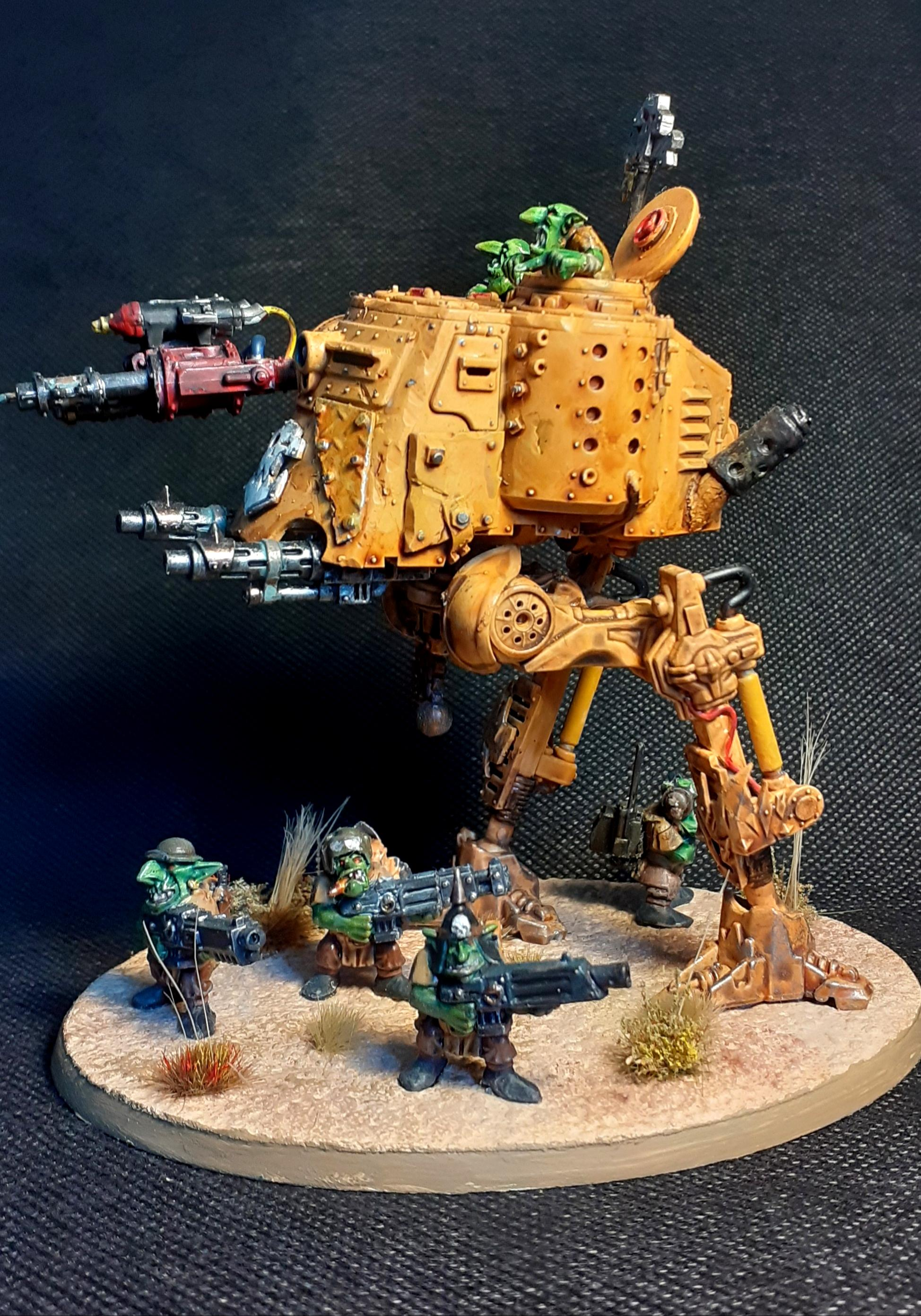 Conversion, Grot Conversion, Grot Tank, Grots, Kitbash, Kitbashed, Ork Conversions, Ork Custome Made Vehicles, Orks, Scratch Build