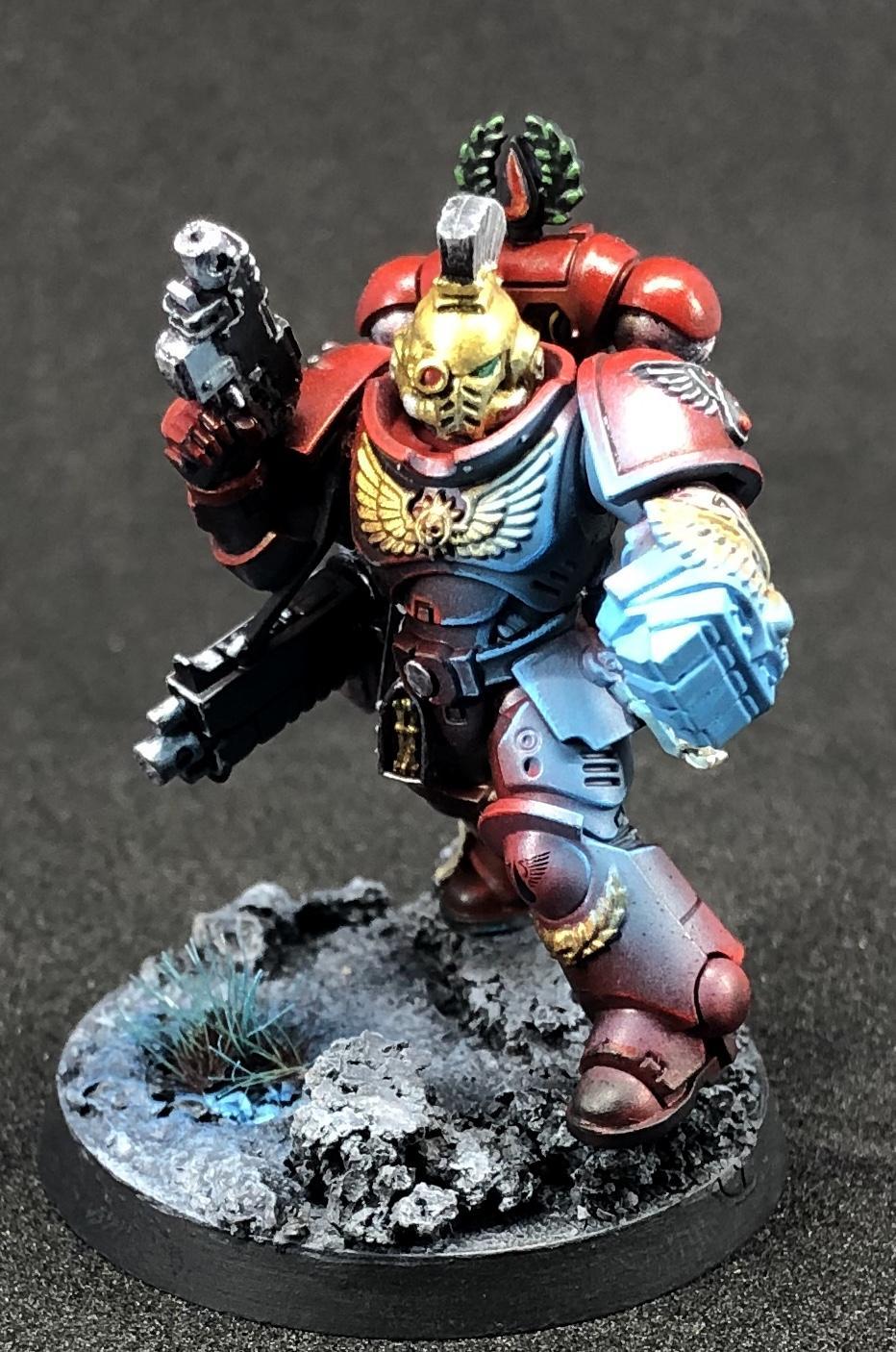 Blood Angels, Lieutenant, Object Source Lighting, Power Fist, Primaris, Primaris Marines, Space Marines, Warhammer 40,000, Warhammer Fantasy