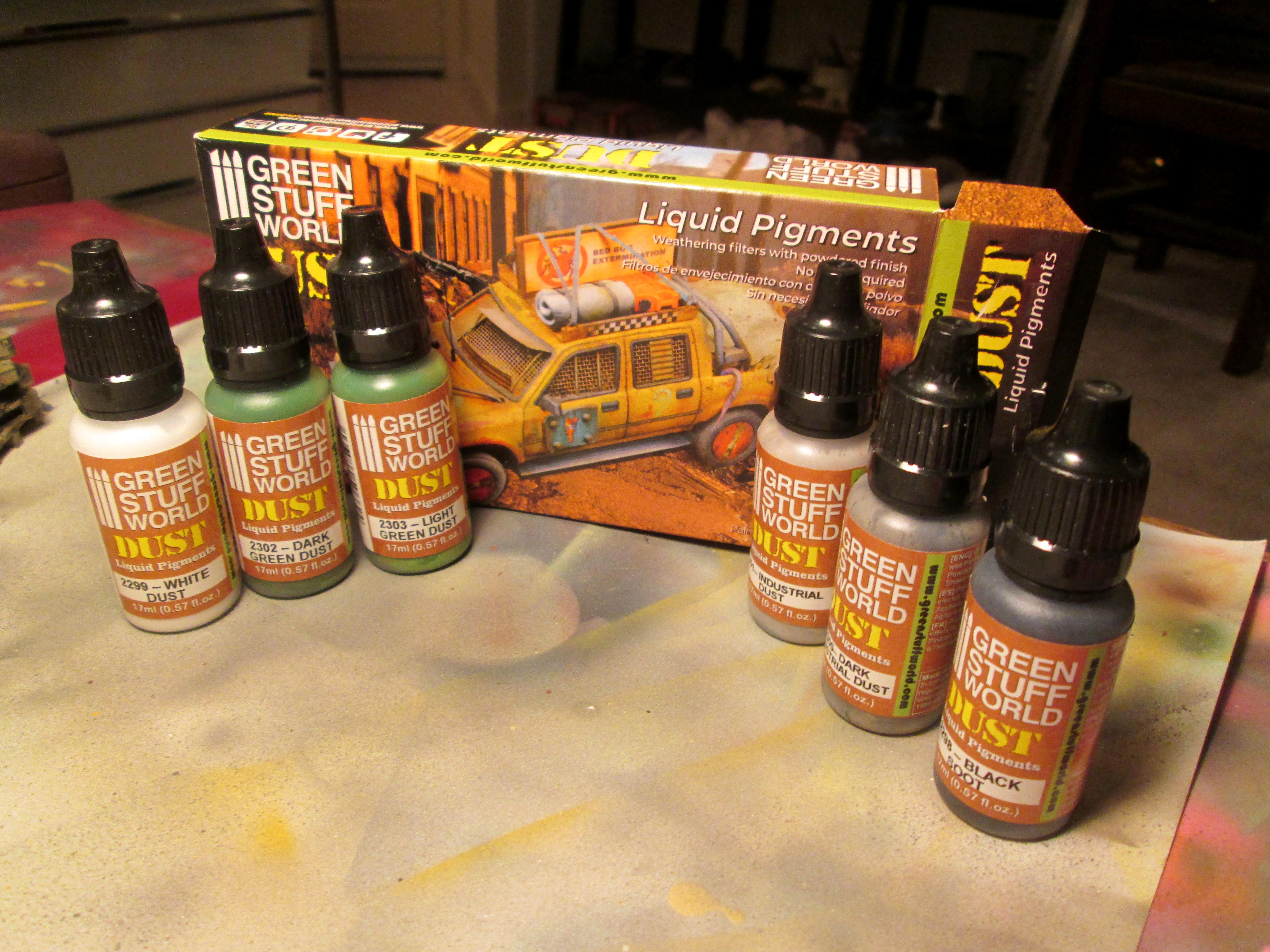 Airbrush, Greenstuff World, Pigments