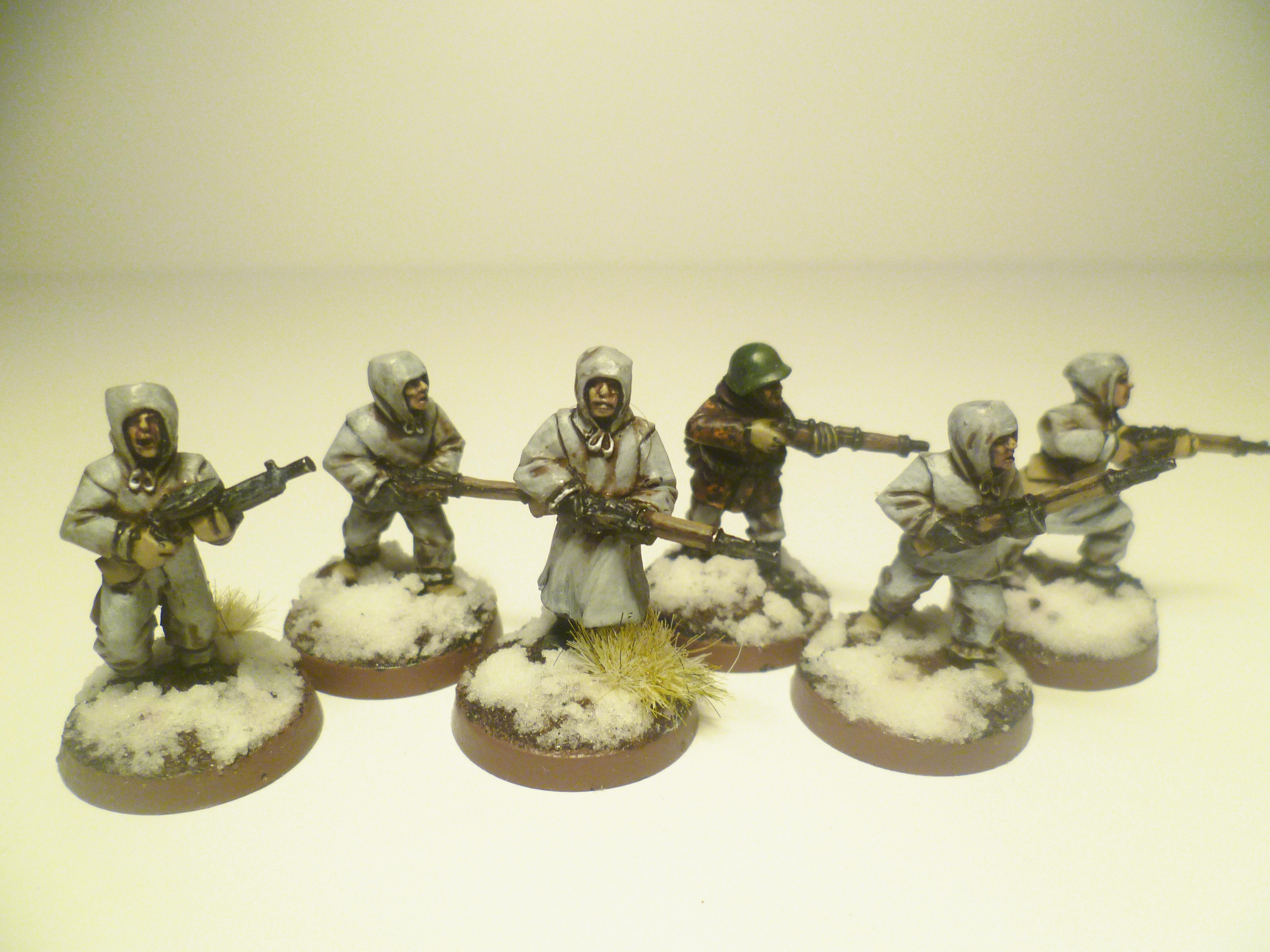 Soviet Infantry in Winter Clothing