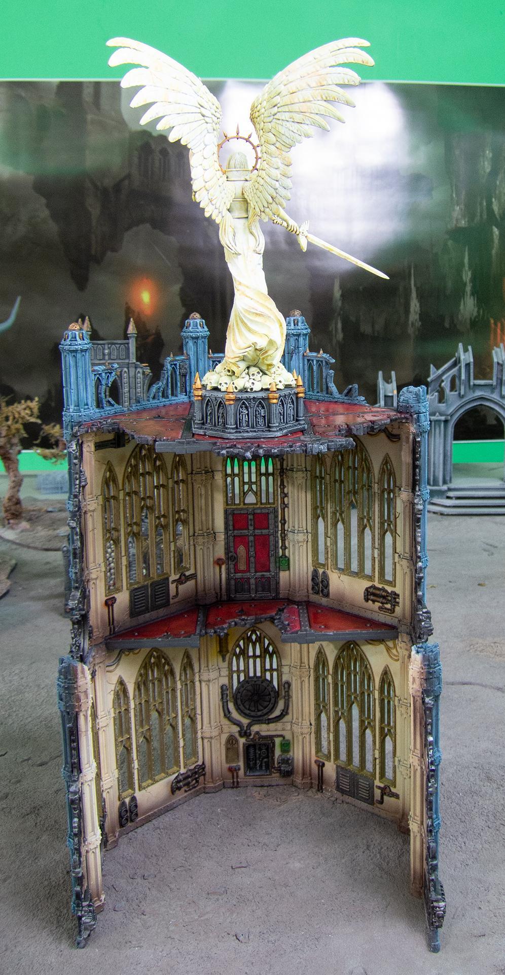 Airbrush, Battle Sanctum, Buildings, Celestine, Marble, Sanctum, Sisters Of Battle, Sororitas, Statue, Terrain