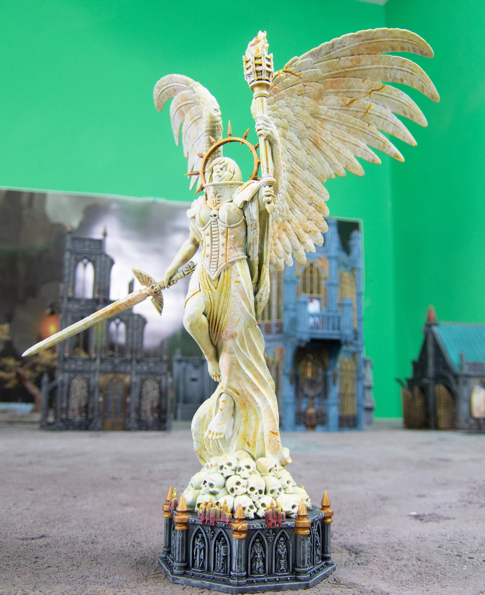 Airbrush, Battle Sanctum, Buildings, Celestine, Marble, Sanctum, Sisters Of Battle, Sororitas, Statue, Terrain