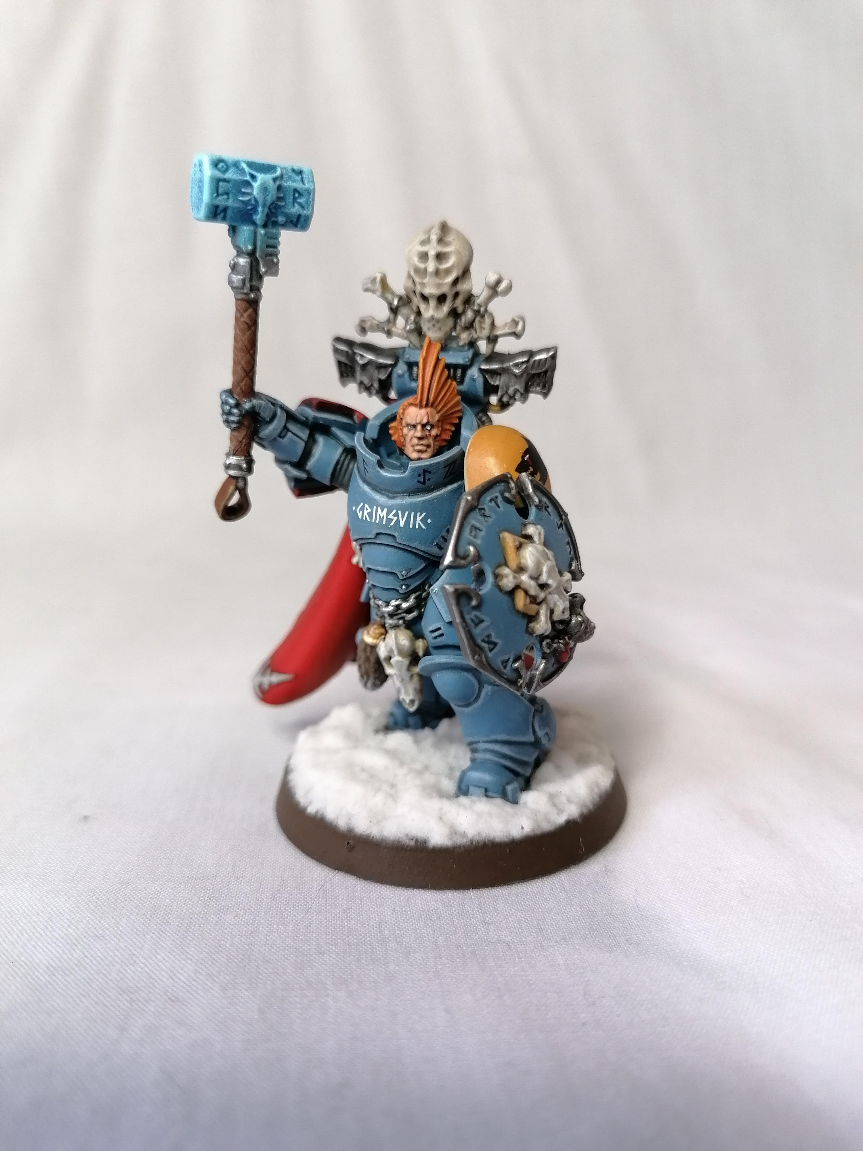 Beowulf, Hellhammers, Imperial, Space Marines, Space Wolves, Warhammer 40,000, Wolf Lord