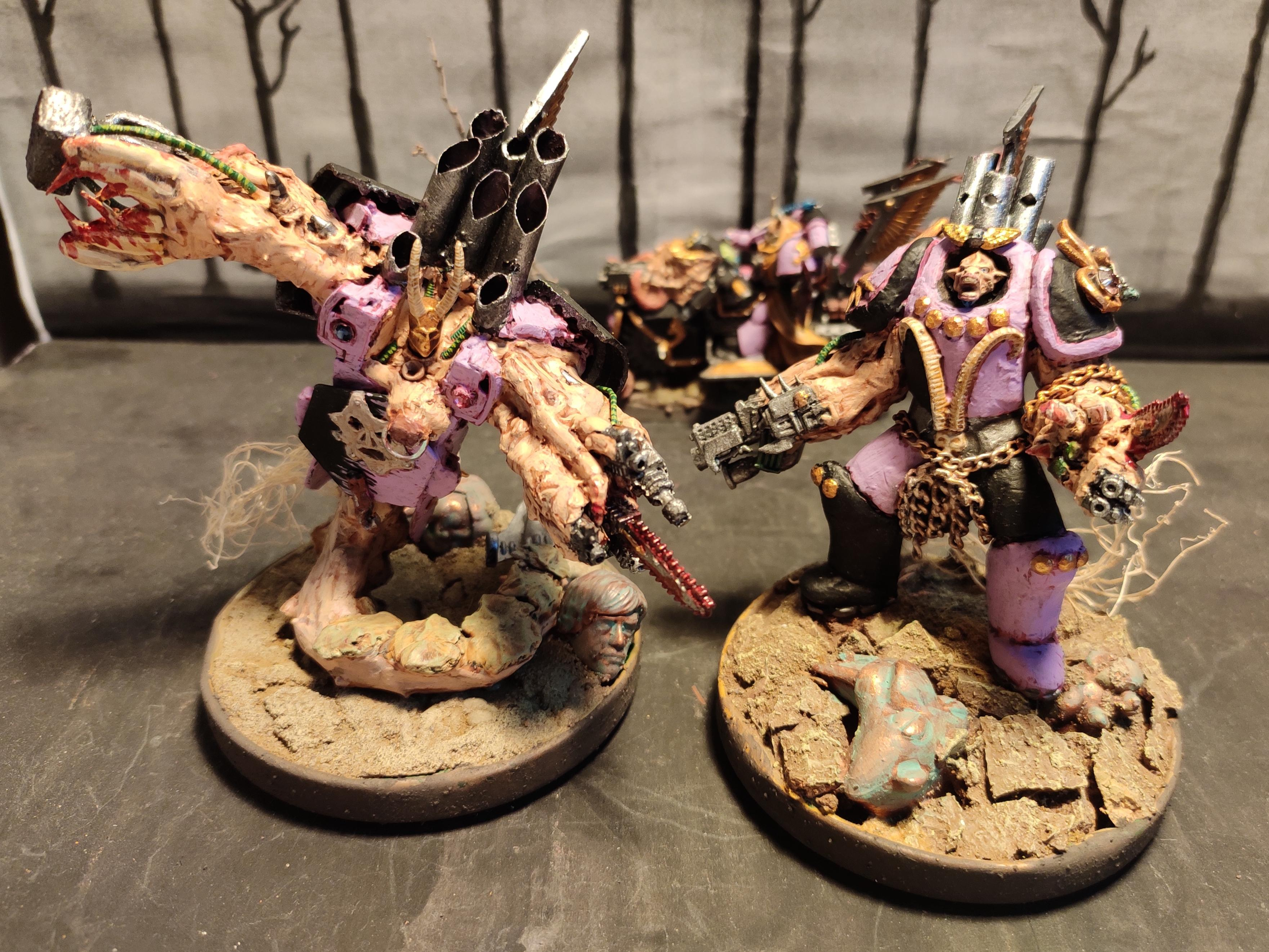 Breast, Chaos, Chaos Space Marines, Conversion, Emperor's Children, Fast Attack, Flayed Face, Heavy Support, Heretic Astartes, Noise Marines, Obliterators, Organ, Perfection Or Death, Scratch Build, Sculpting, Serpent, Slaanesh, Sonic Blaster, Tehnolog, Traitor Legions, Warhammer 40,000, Winged