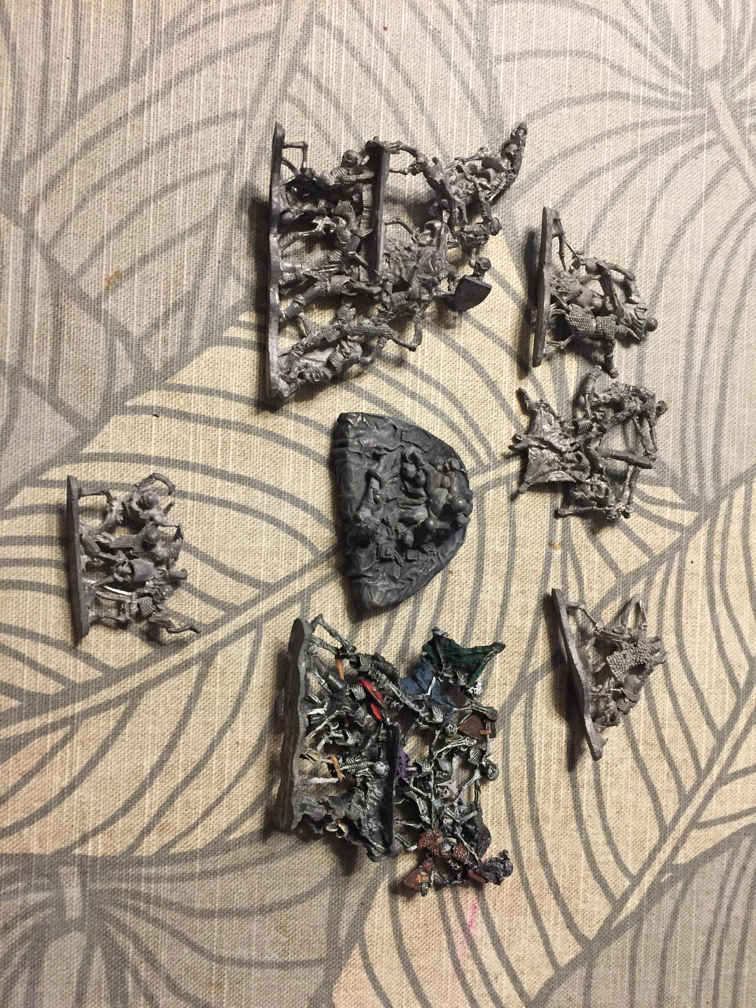 Bone, Necromancer, Out Of Production, Ral Partha, Skeletons, Throne, Throne Of Bone, Undead