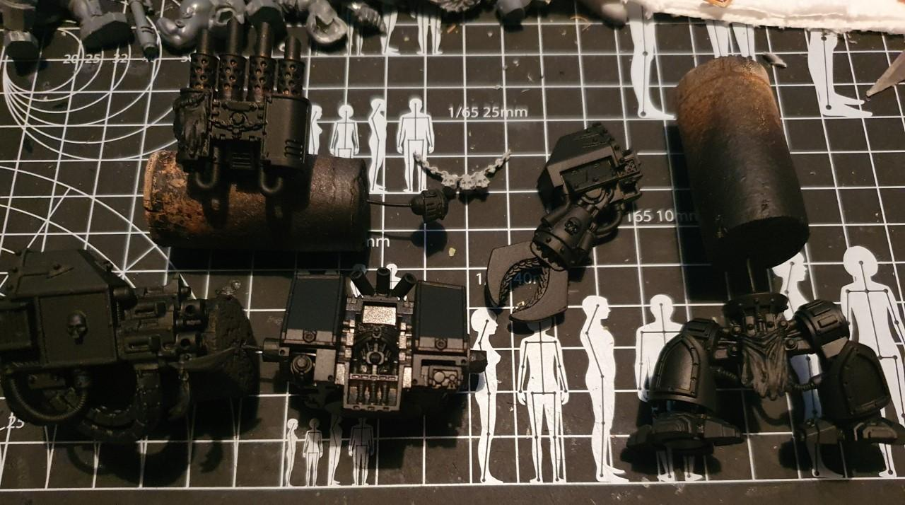 Chaos, Chaos Space Marines, Conversion, Dreadnought, Helbrute, Hellbrute, Heretic Astartes, Iron Warriors, Kitbash