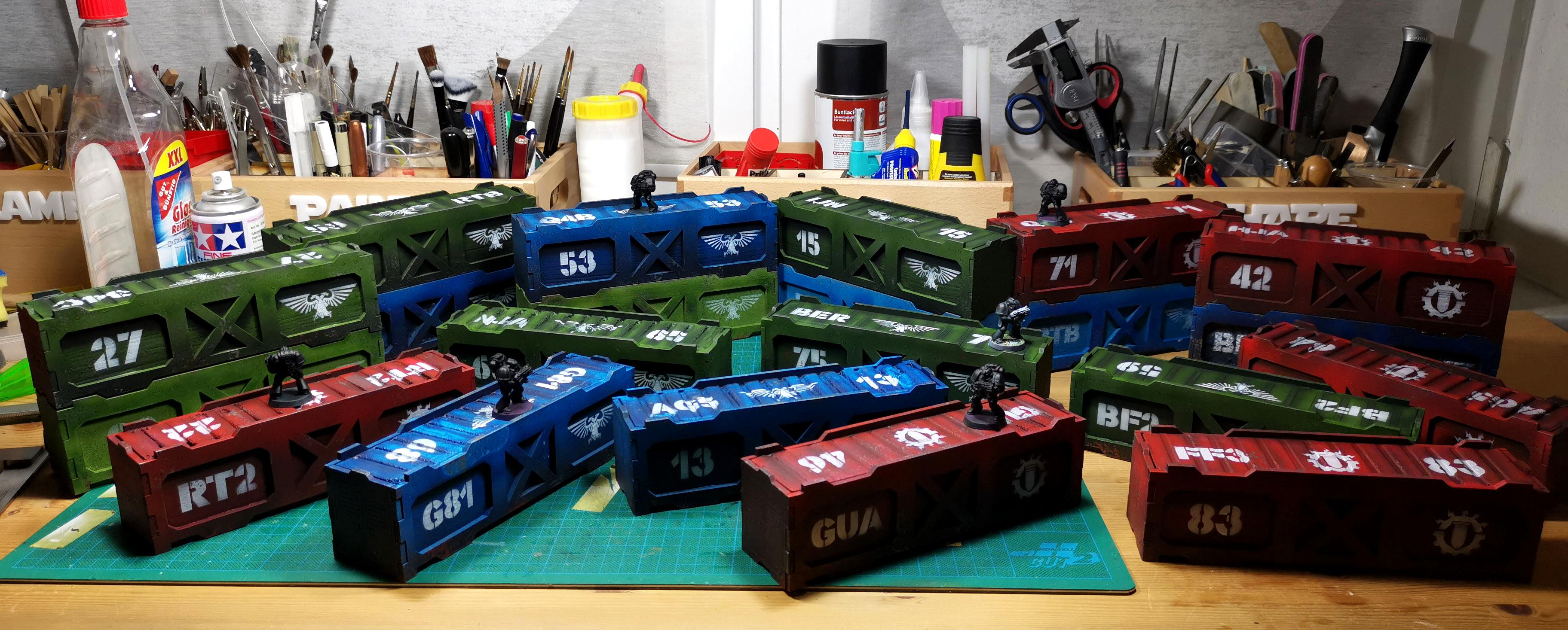 Container, Laser, Mdf, Terrain, Xps