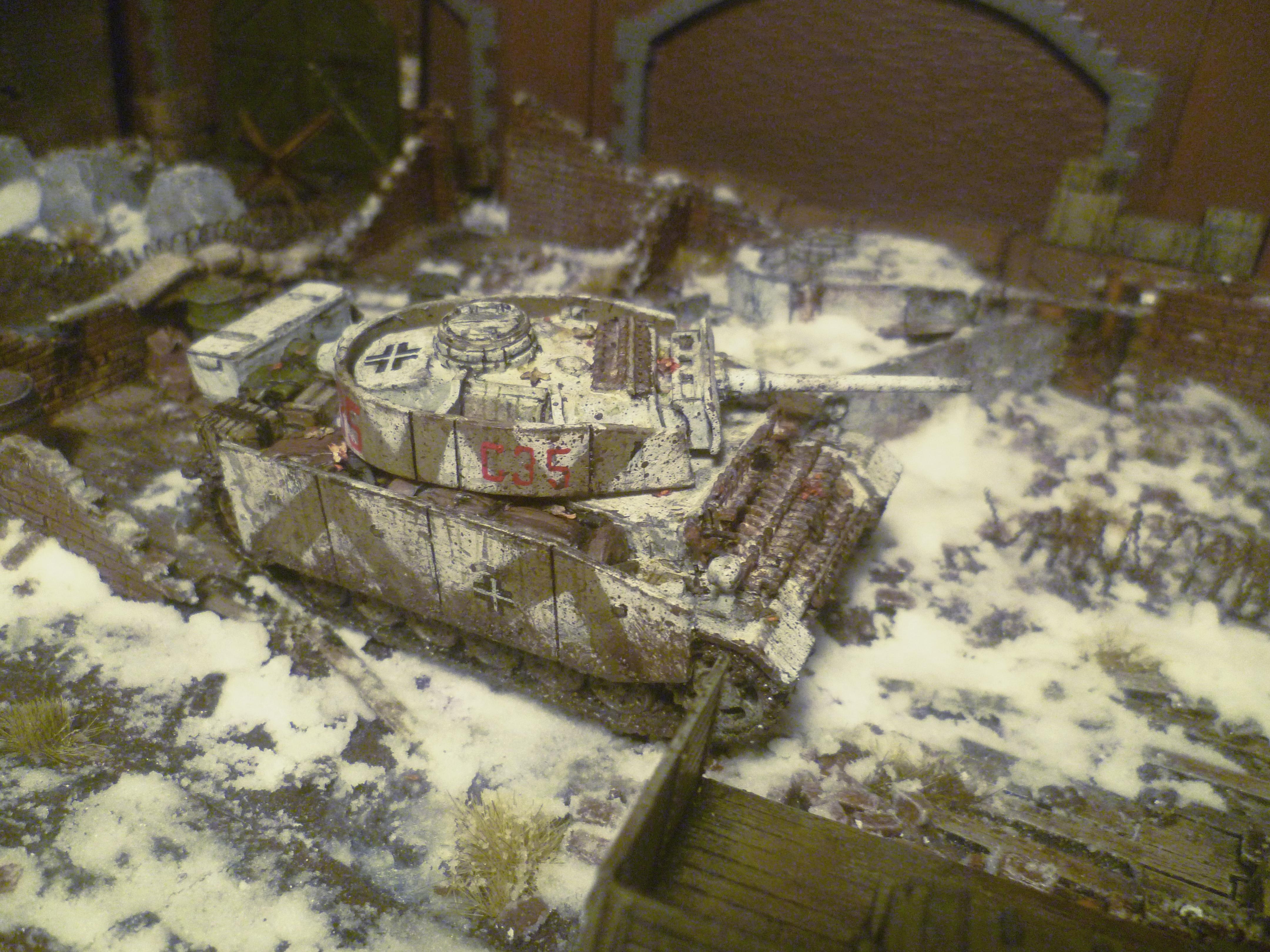 1/56, 28mm, Conversion, Germans, Improvised, Panzer, Winter, World War 2