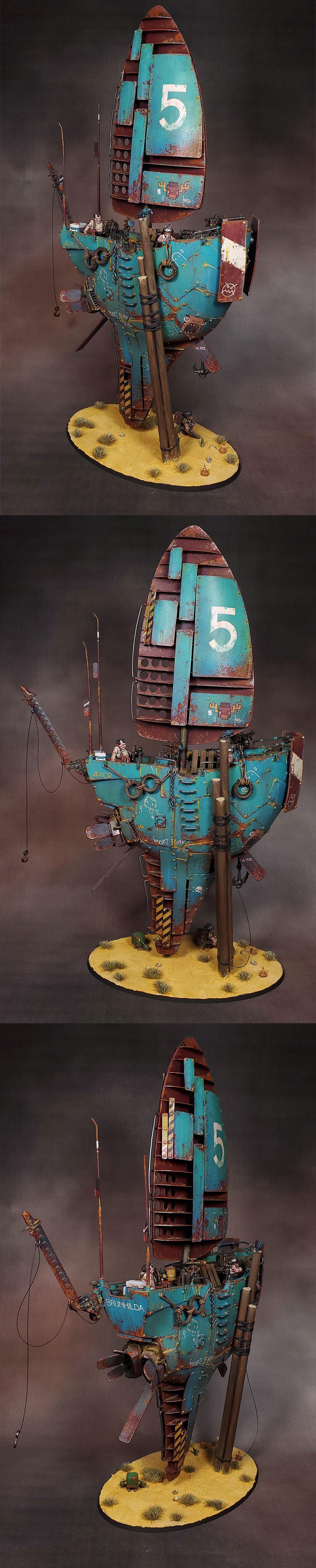 Airship, Ironclad, Kharadron Overlords, Scratch Build, Skyship