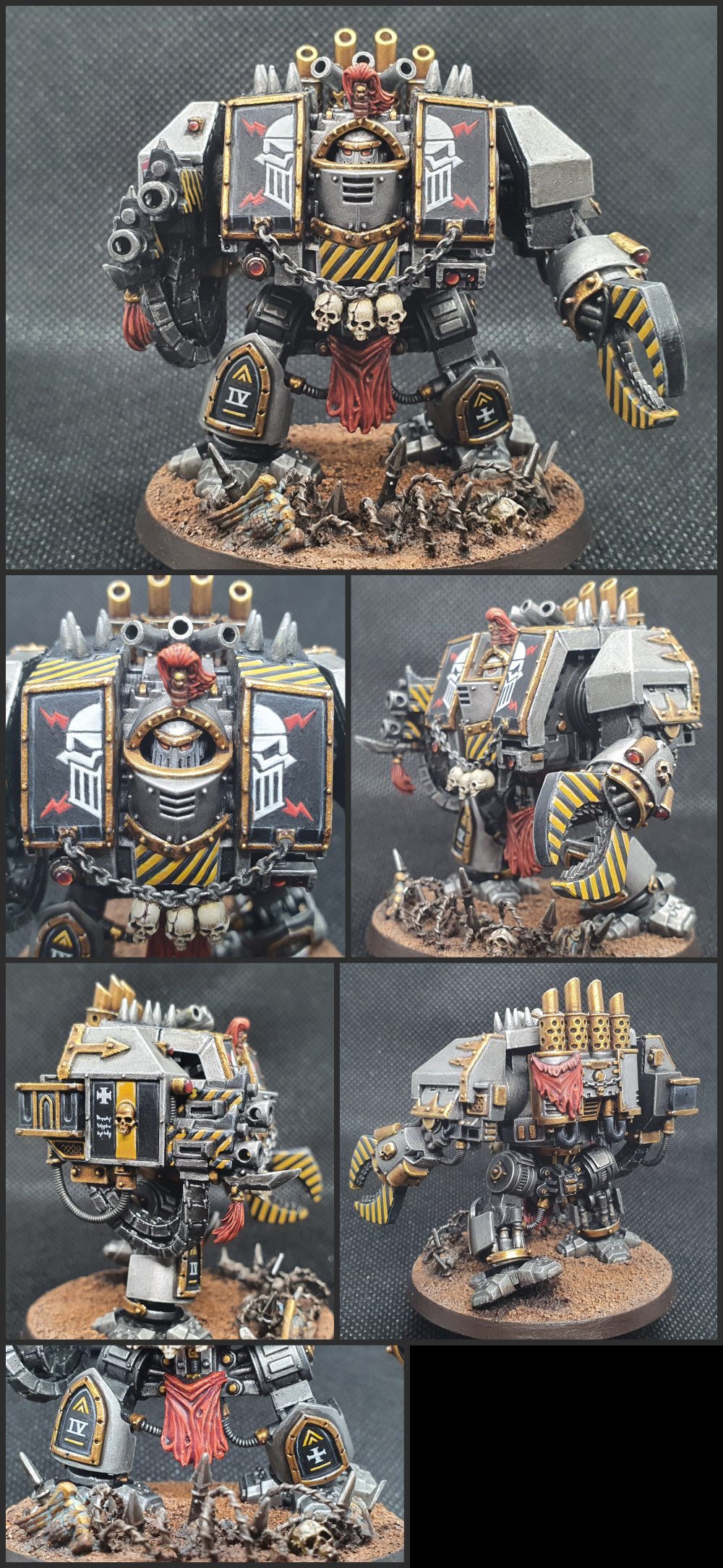 Base, Bolter, Chaos, Chaos Space Marines, Conversion, Detailed, Dreadnought, Helbrute, Hellbrute, Heretic Astartes, Iron Warriors, Kitbash, Skull, Warhammer 40,000