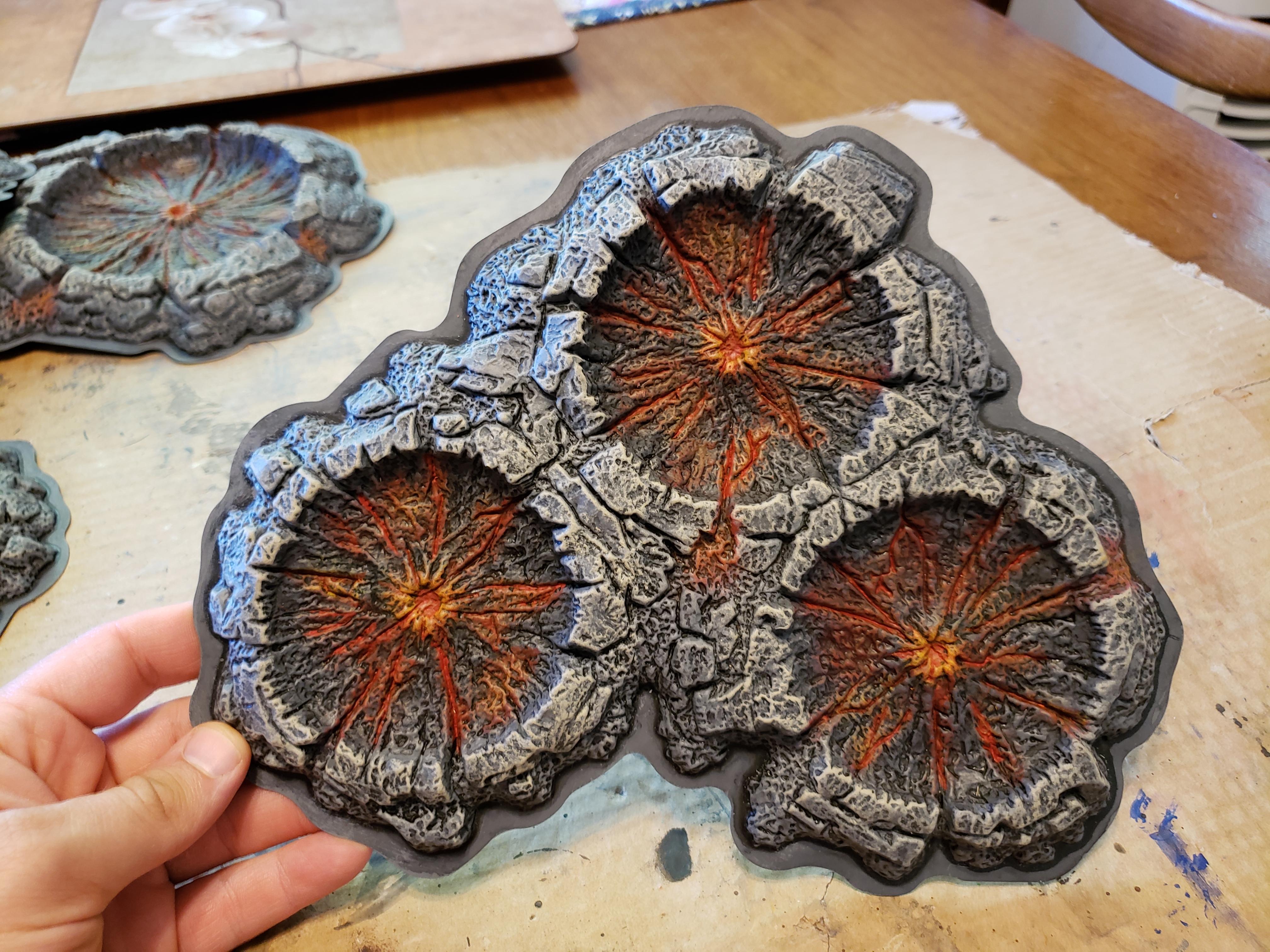 Craters, Terrain