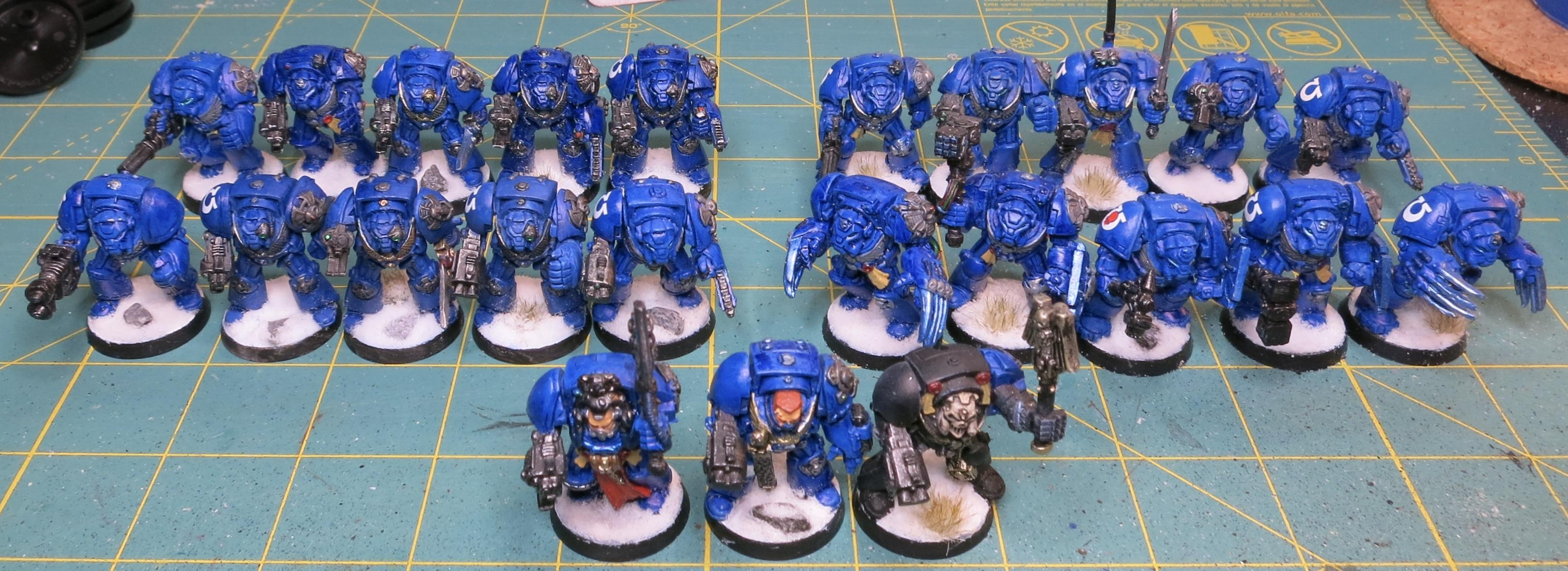 2nd Edition, Chaplain, First Company, Librarian, Space Marines, Terminator Armor, Ultramarines