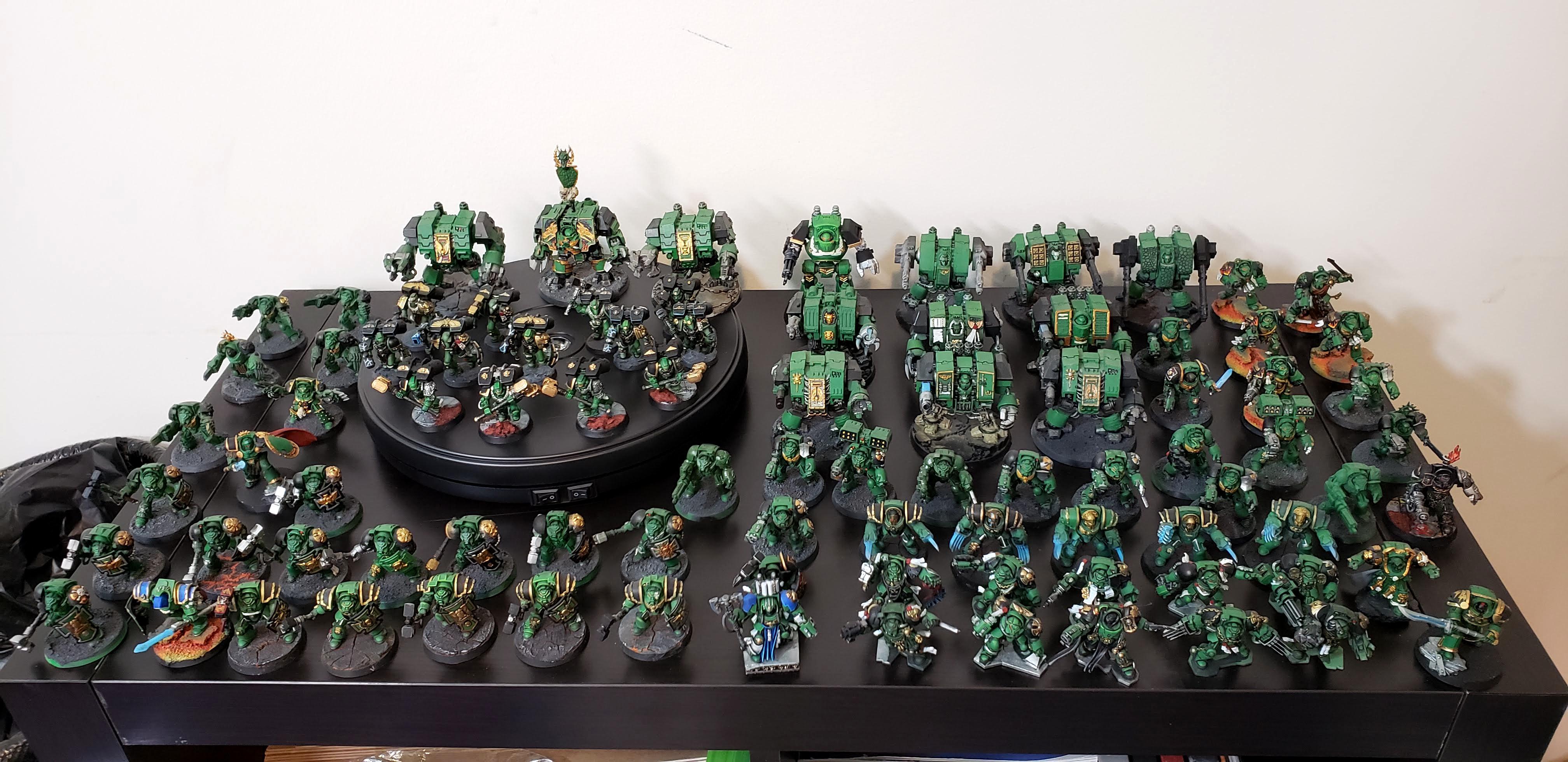 Army, Dreadnought, Salamanders, Space Marines