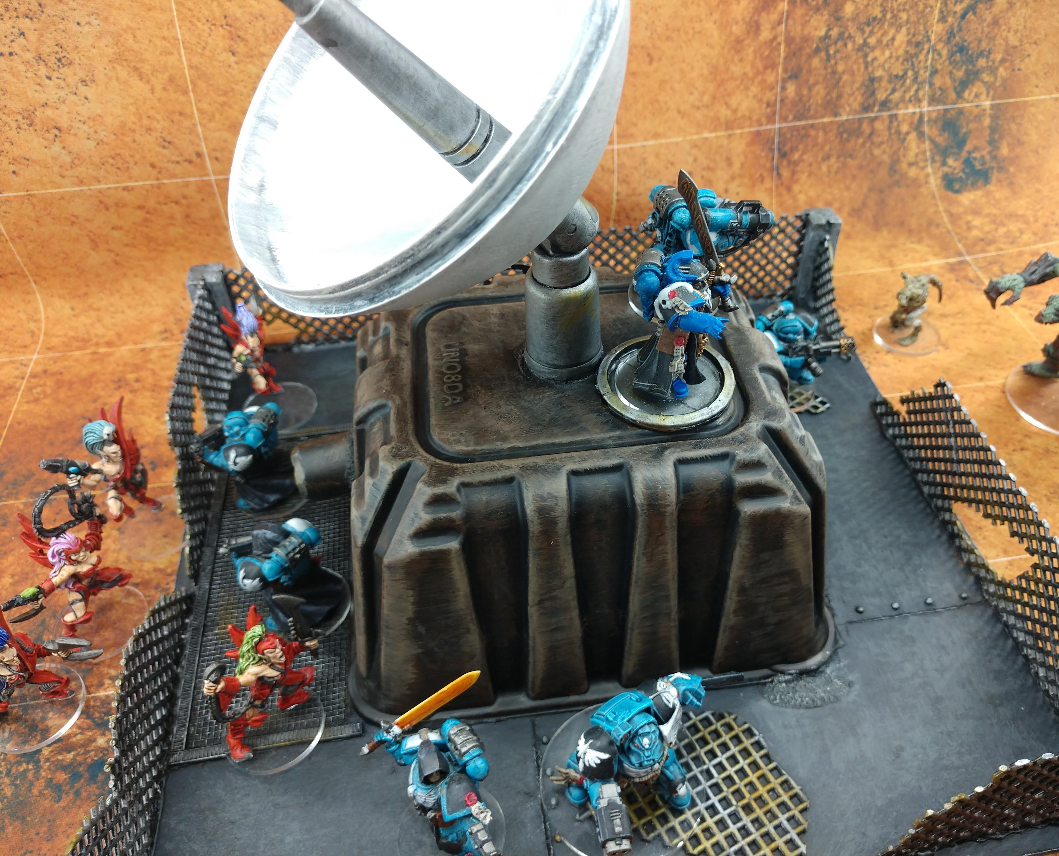 Bunker, Dark Eldar, Radar, Space Marines, Terrain