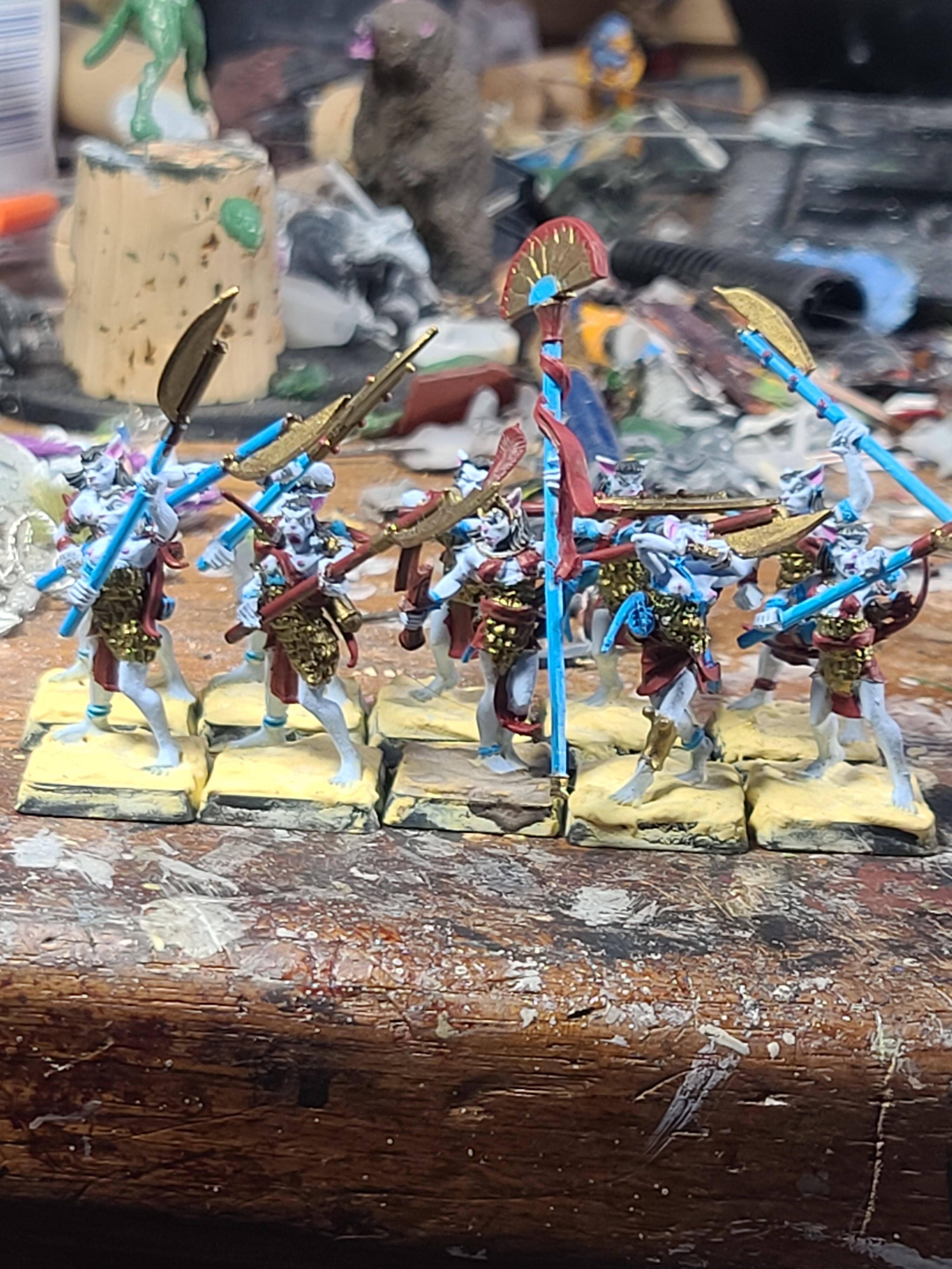Basti, Bows, Conversion, Crocodile Games, Kitbash, Two Handed Weapons, War Gods Of Aegyptus