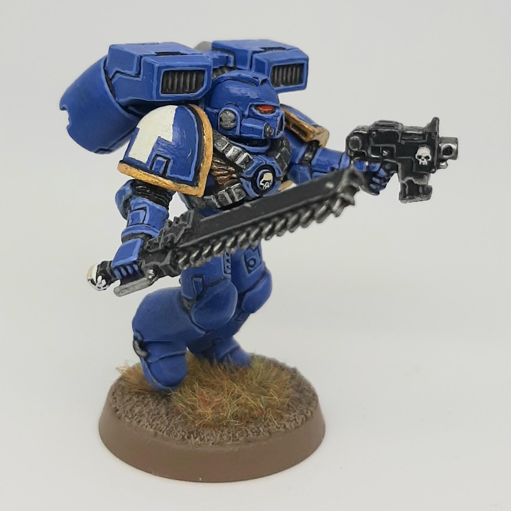Assault, Bolt, Chainsword, Conversion, Custom, Kitbash, Pistol, Space Marines, Ultramarines