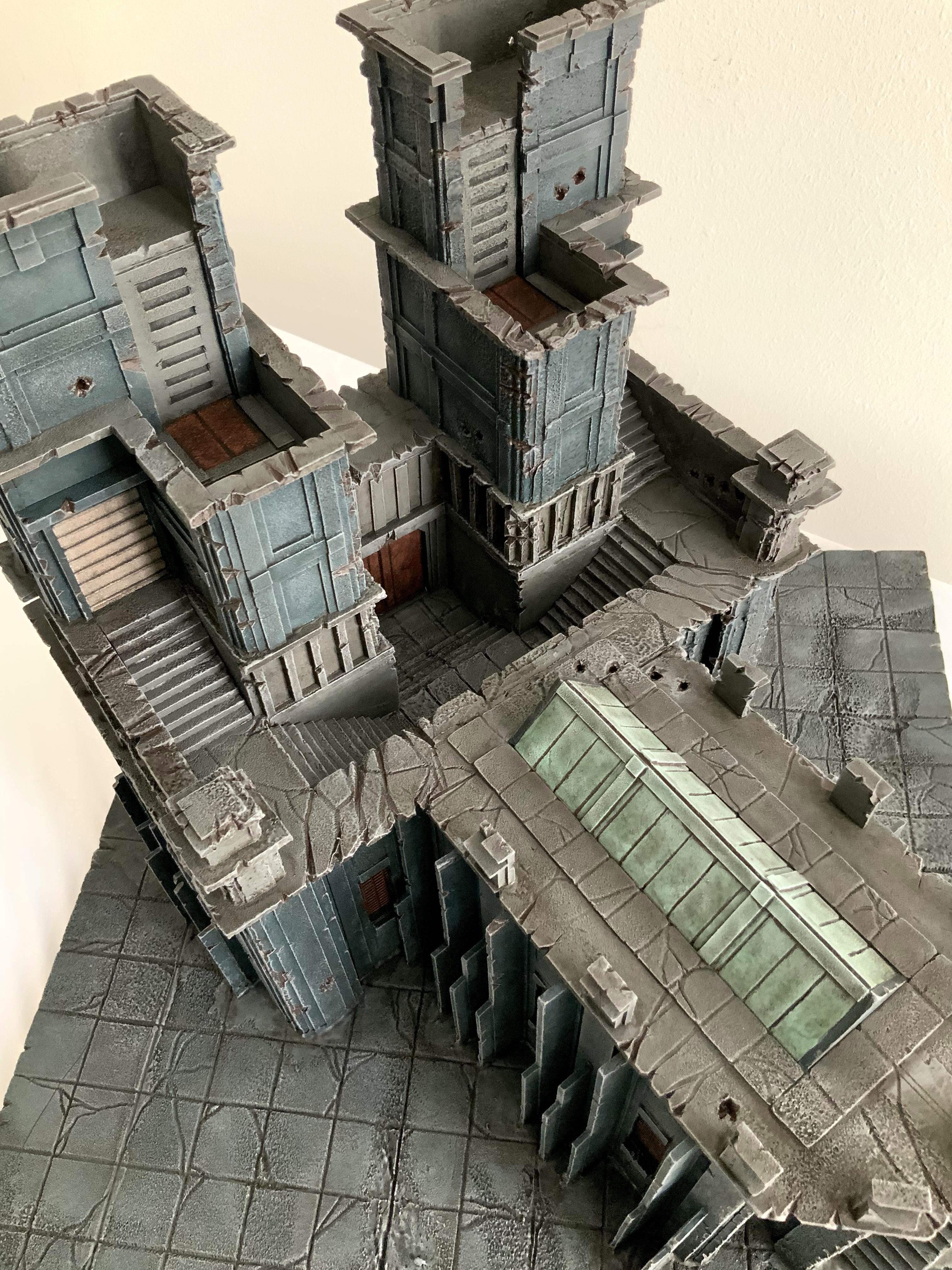 Cathedral, Foam, Scratch Build, Temple