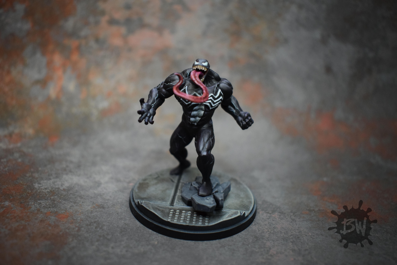 Amg, Atomic Mass Games, Bw, Marvel, Marvel Crisis Protocol, Venom