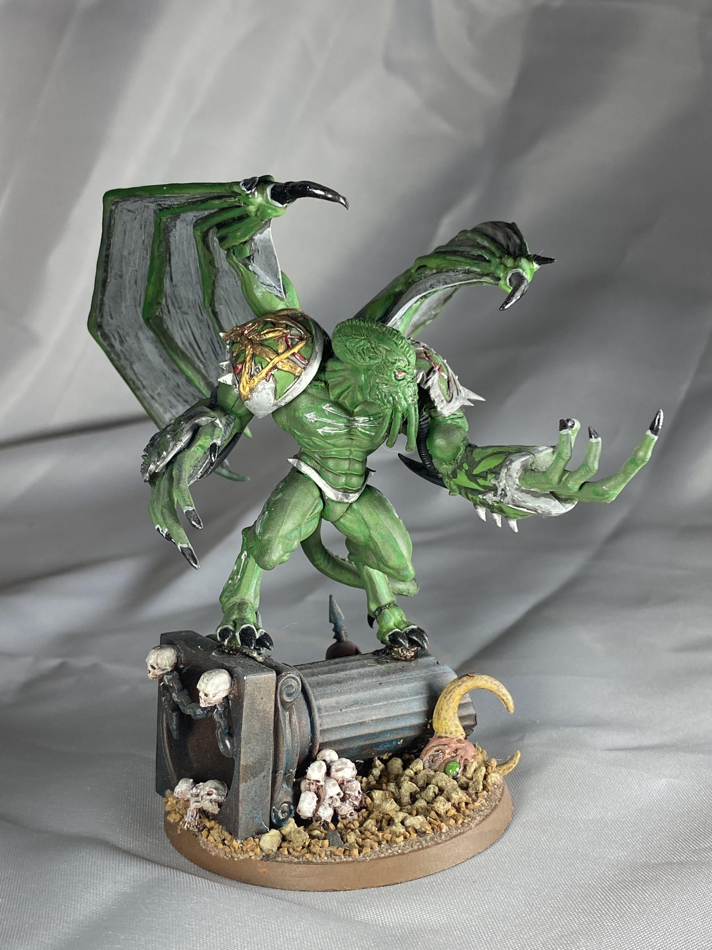 Chaos Space Marines, Cthulhu, Daemons, Death Guard, Green, Mythos, Nurgle, Prince, Warhammer 40,000