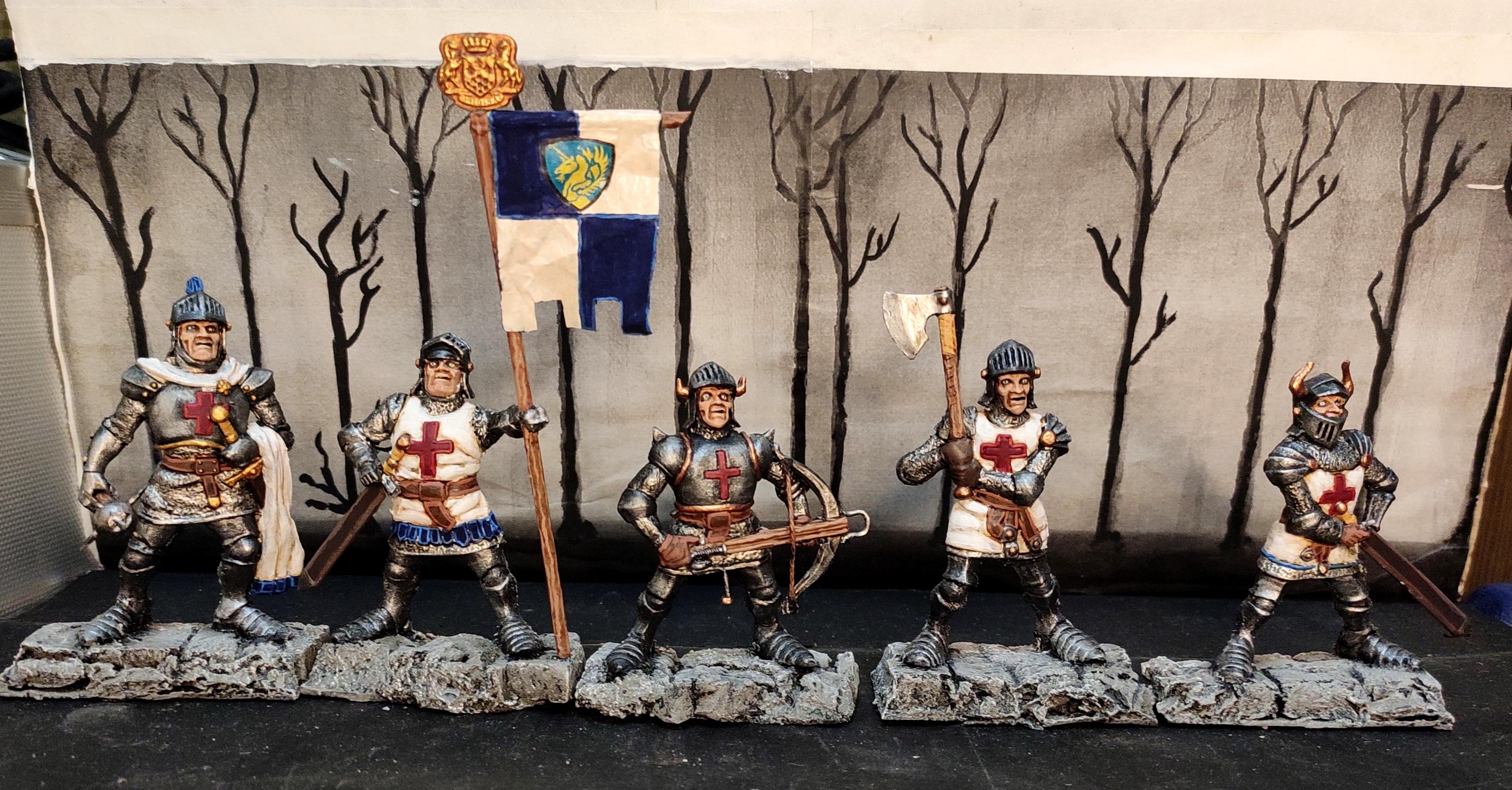 Axe, Banner, Bus Ticket, Commander, Conversion, Crossbow, Crusader, Fantasy Battles, From Russia, Knights, Mace, Order, Regiment, Retro, Scratch Build, Sword, Technolog, Tehnolog