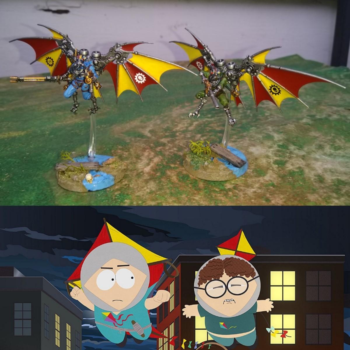 Adeptus Mechanicus, Comedy, Fan Art, Human Kite, Humor, Memes, Pteraxii, South Park