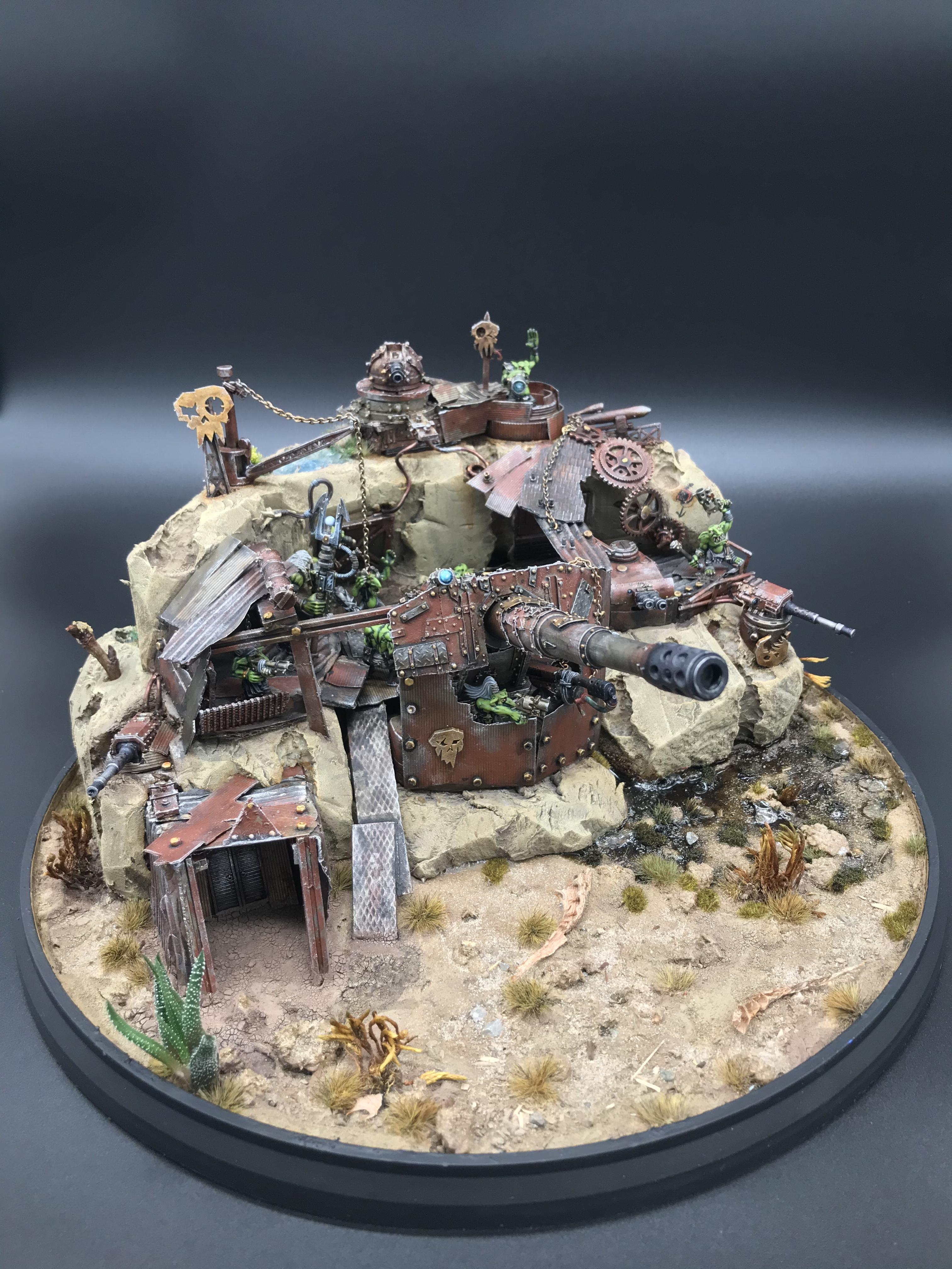 Artillerie, Artillery, Death Korps of Krieg, Diorama, Orks, Scratch Build, Szenerie, Terrain, Warhammer 40,000