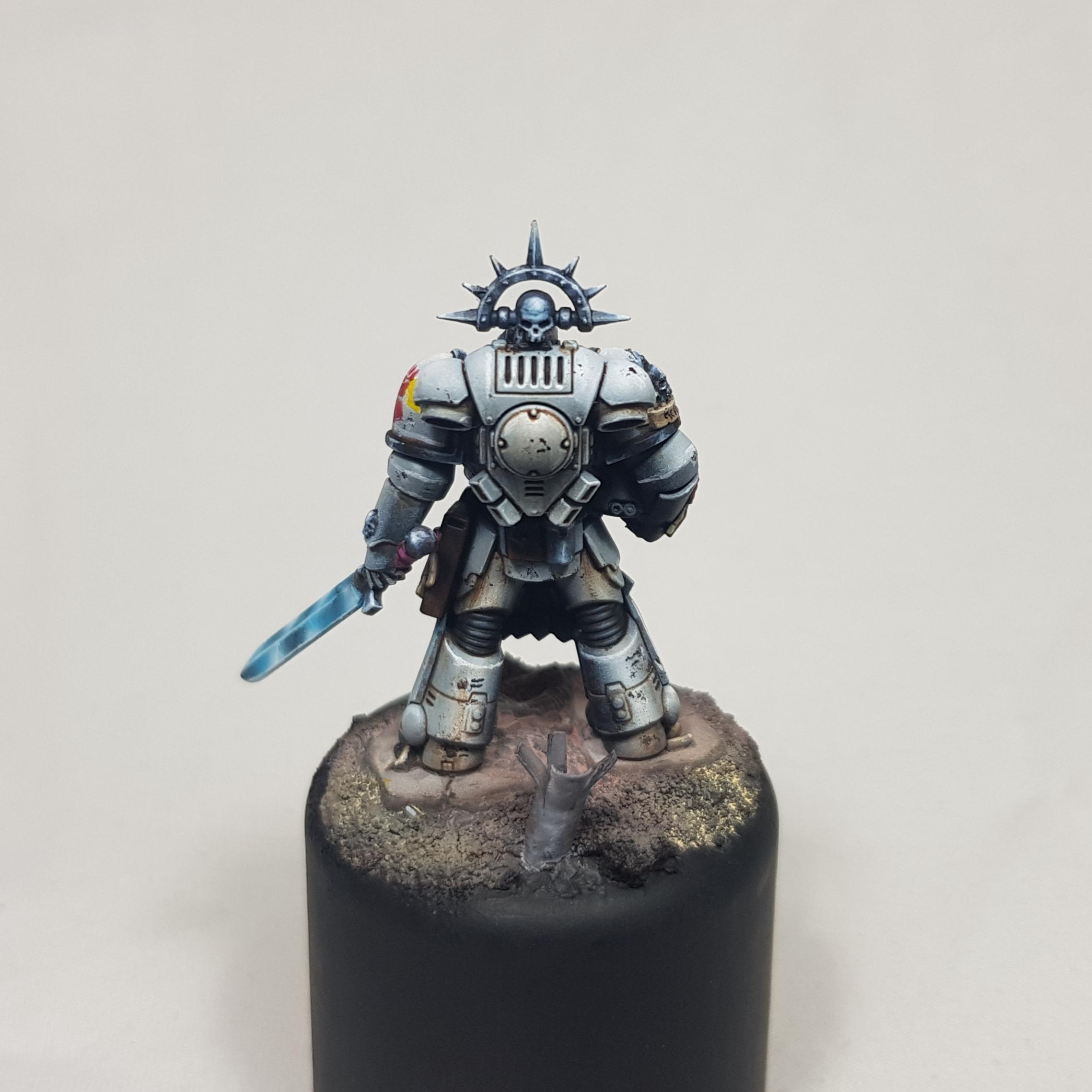 Display, Dorn, Excoriators, Freehand, Imperial Fists, Last Wall, Non-Metallic Metal, Painting Challenge, Plinth, Primaris, Space Marines