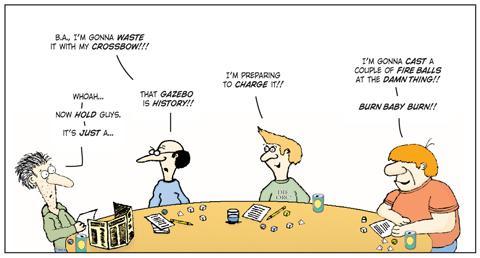 Gazebo, Humor, Knights Of The Dinner Table