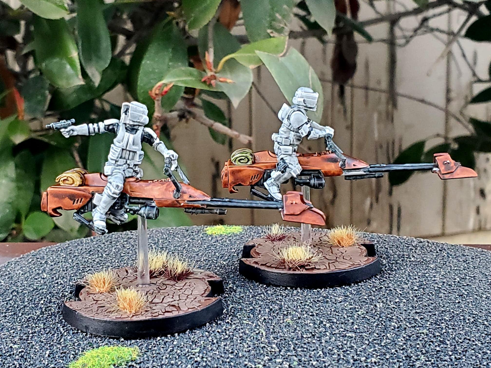 Empire, Imperial, Speeder Bikes, Star Wars Legion