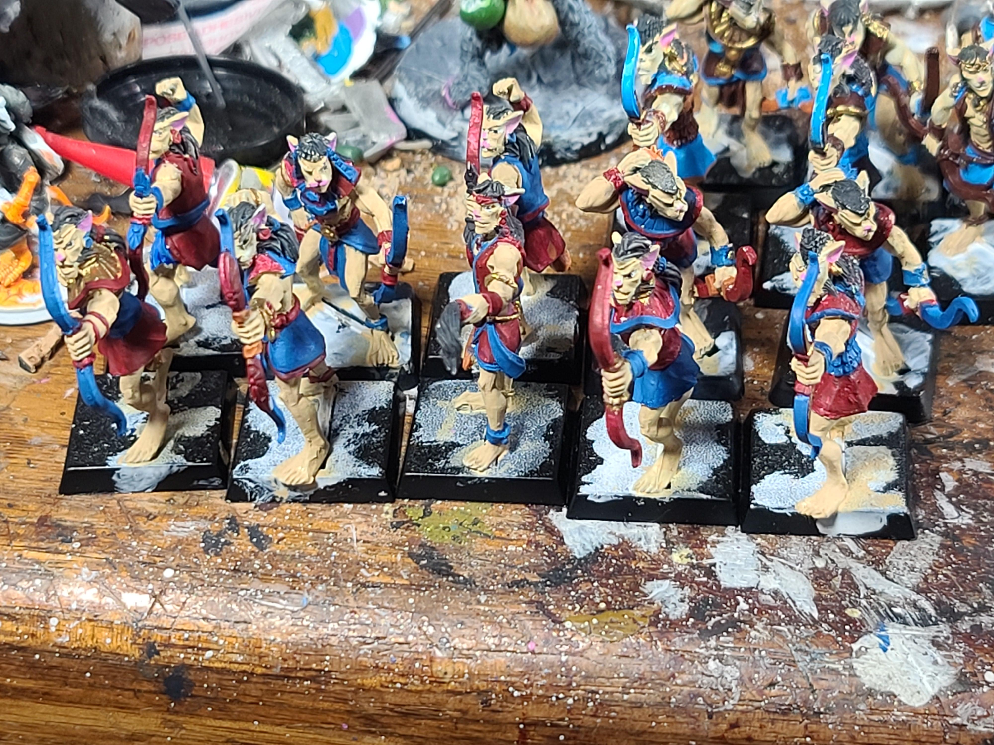 Archers, Basti, Cat, Catboys, Crocodile Games, War Gods Of Aegytpus