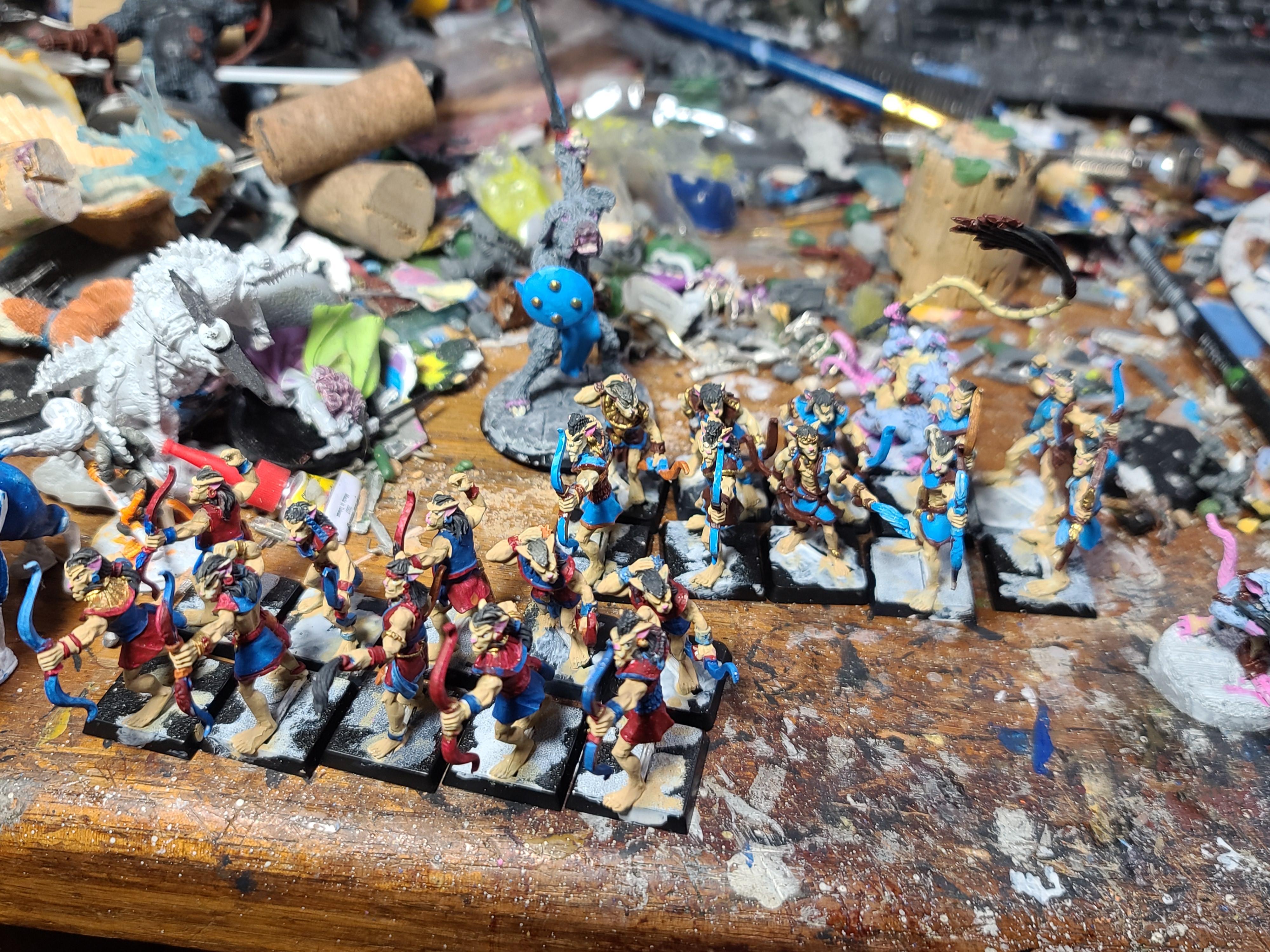 Archers, Basti, Catboys, Crocodile Games, Wargods Of Aegyptus