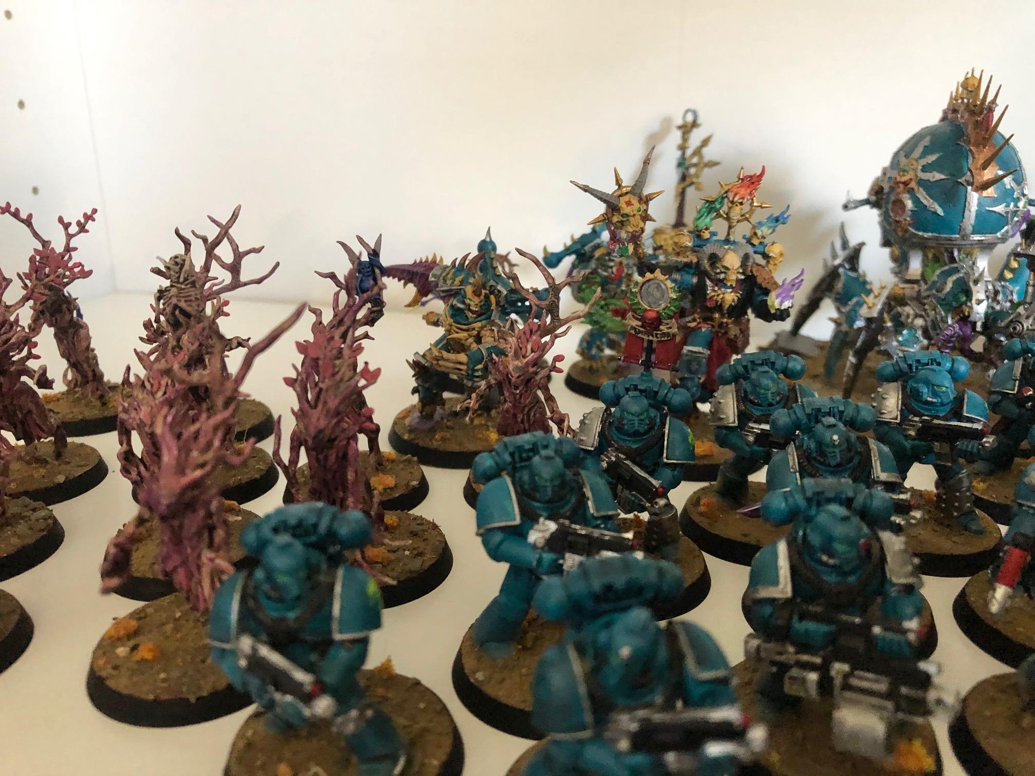 Alpha Legion, Chaos Space Marines, Kitbash, Warhammer 40,000