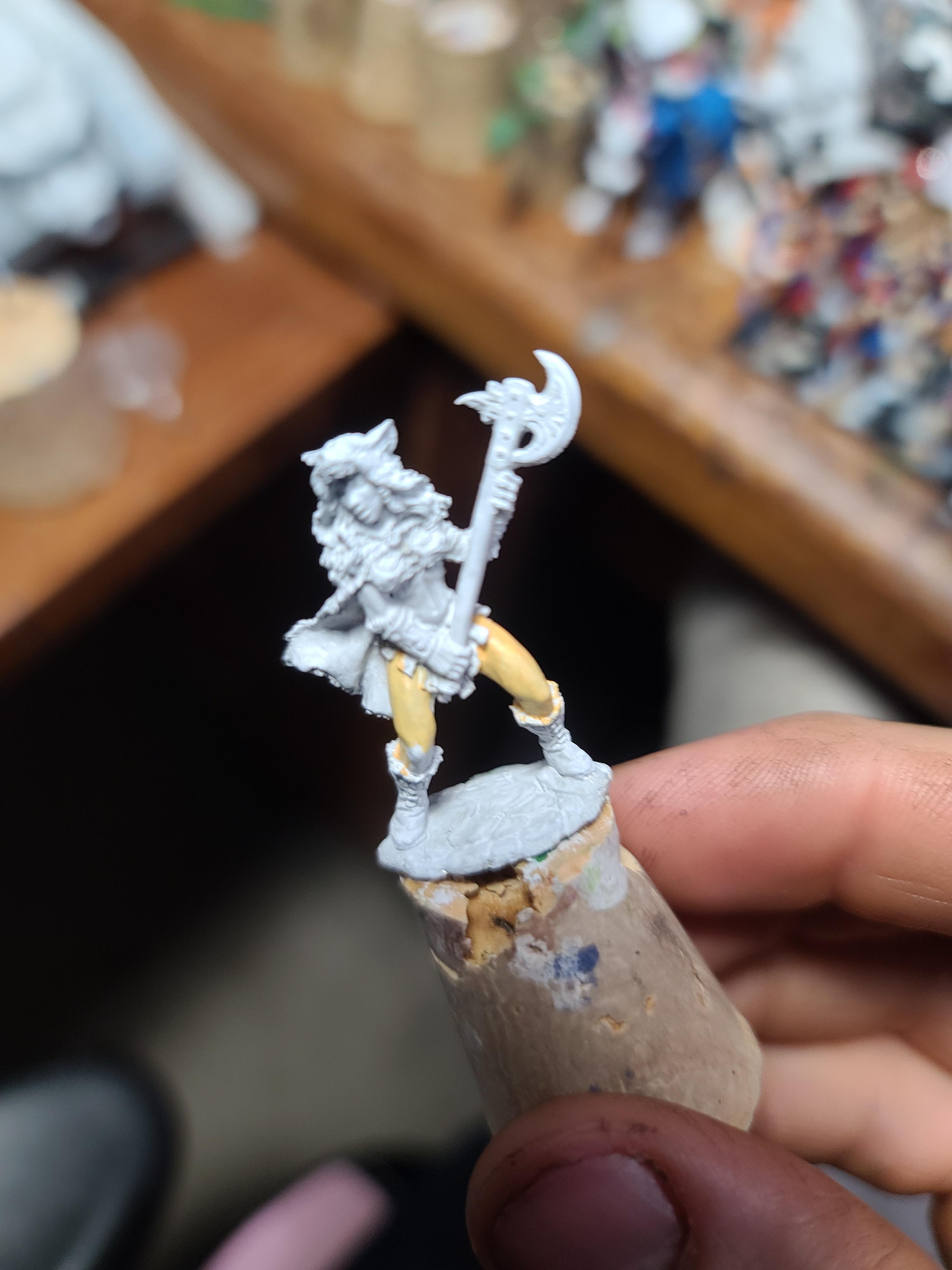 Barbarian, Berzerker, Human, J Guthrie Sculpt, Reaper Miniatures