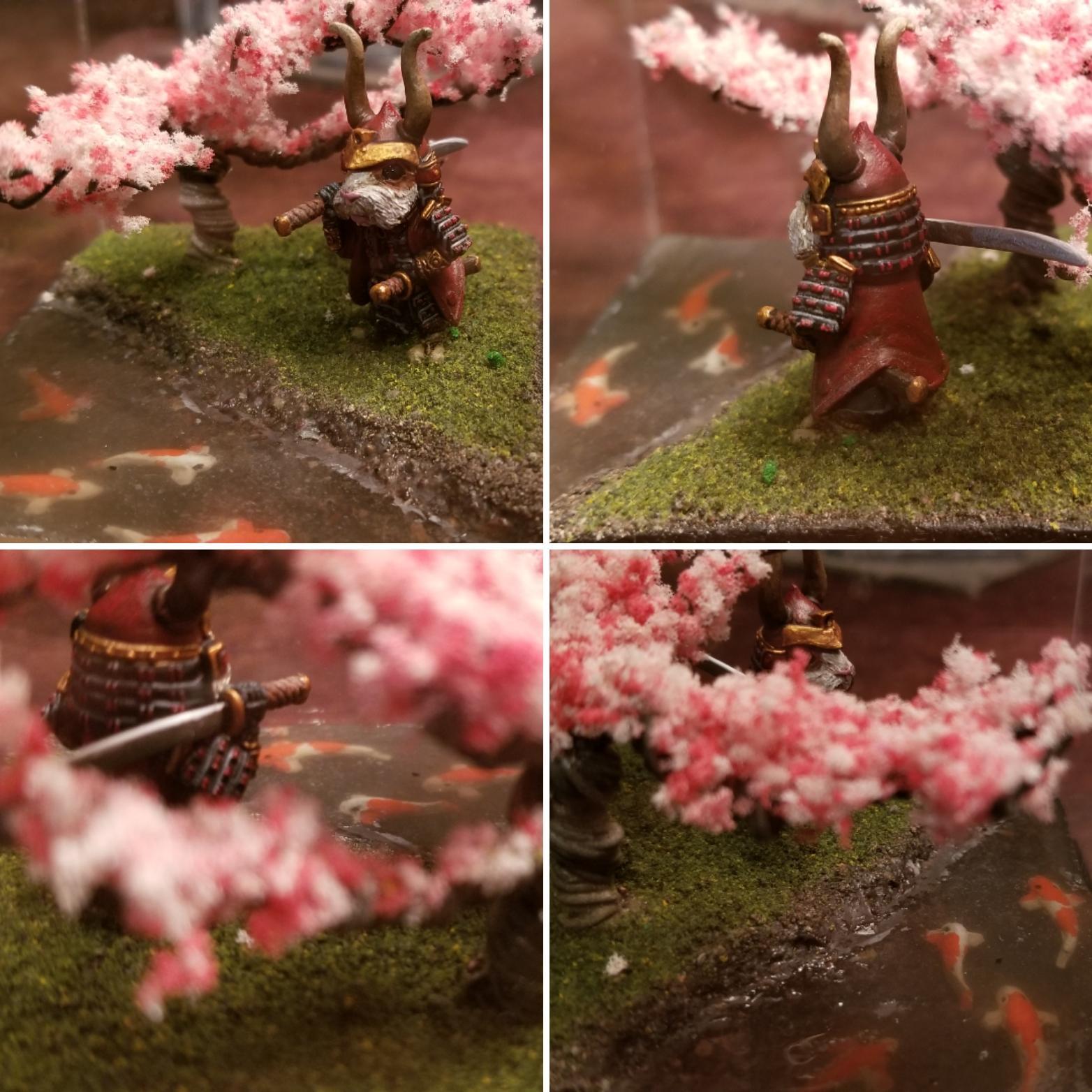 Cherry Blossom, Guinea, Pig, Samurai