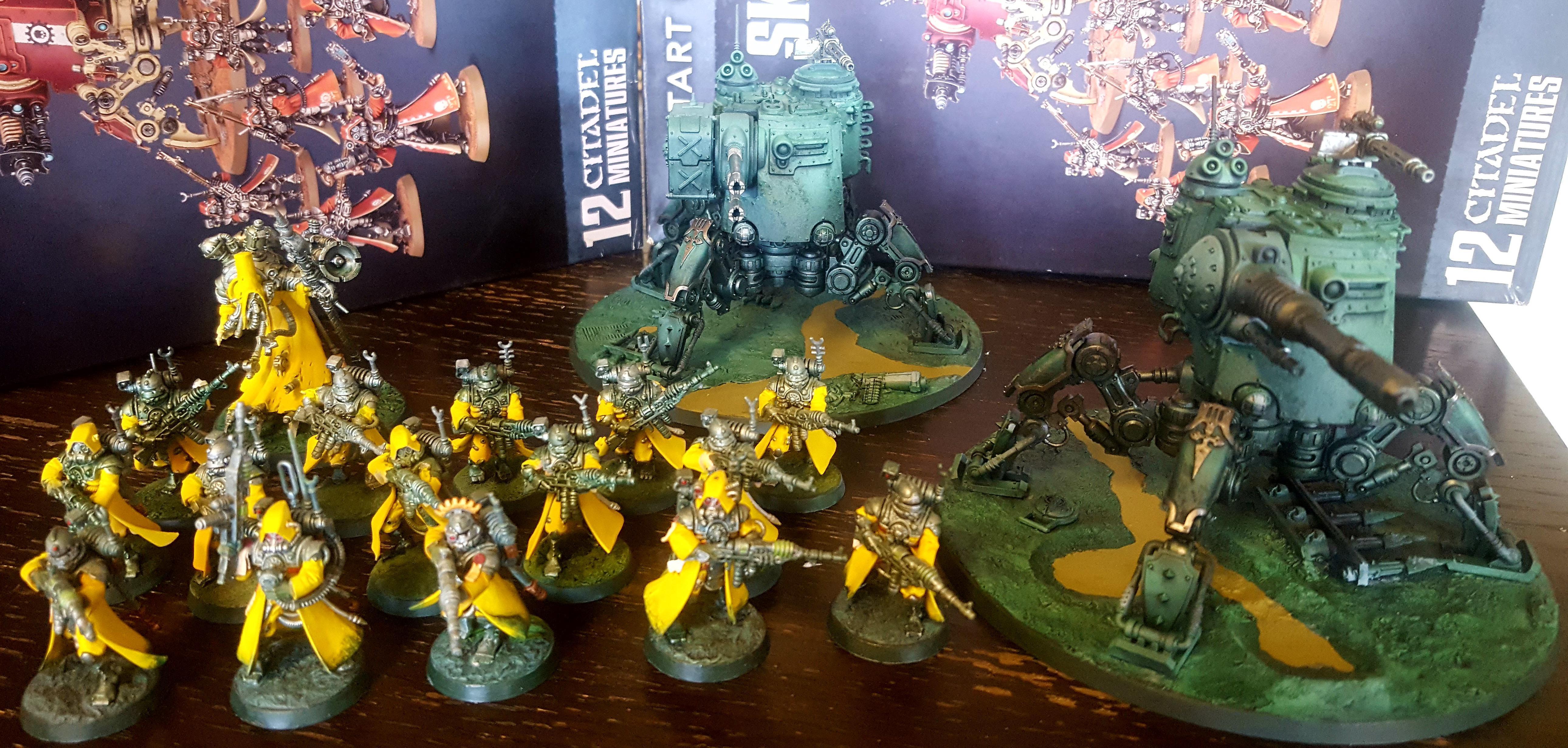 Adeptus Mechanicus, Battle Ready, Combat Patrol, Crusade, Dunecrawler, Onager, Skitarii