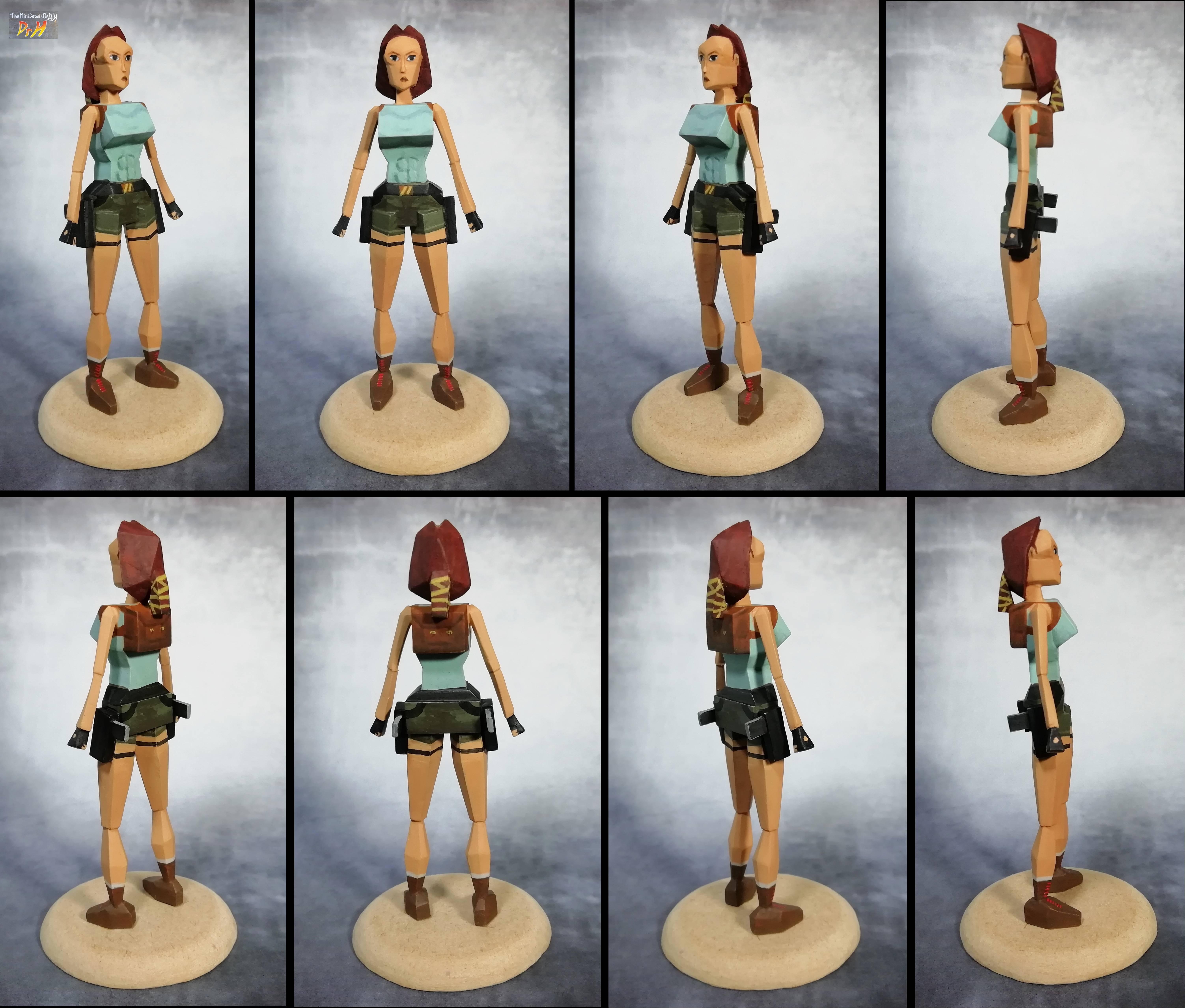 Cell Shading, Female, Lara Croft, Scratch Build, Tomb Raider
