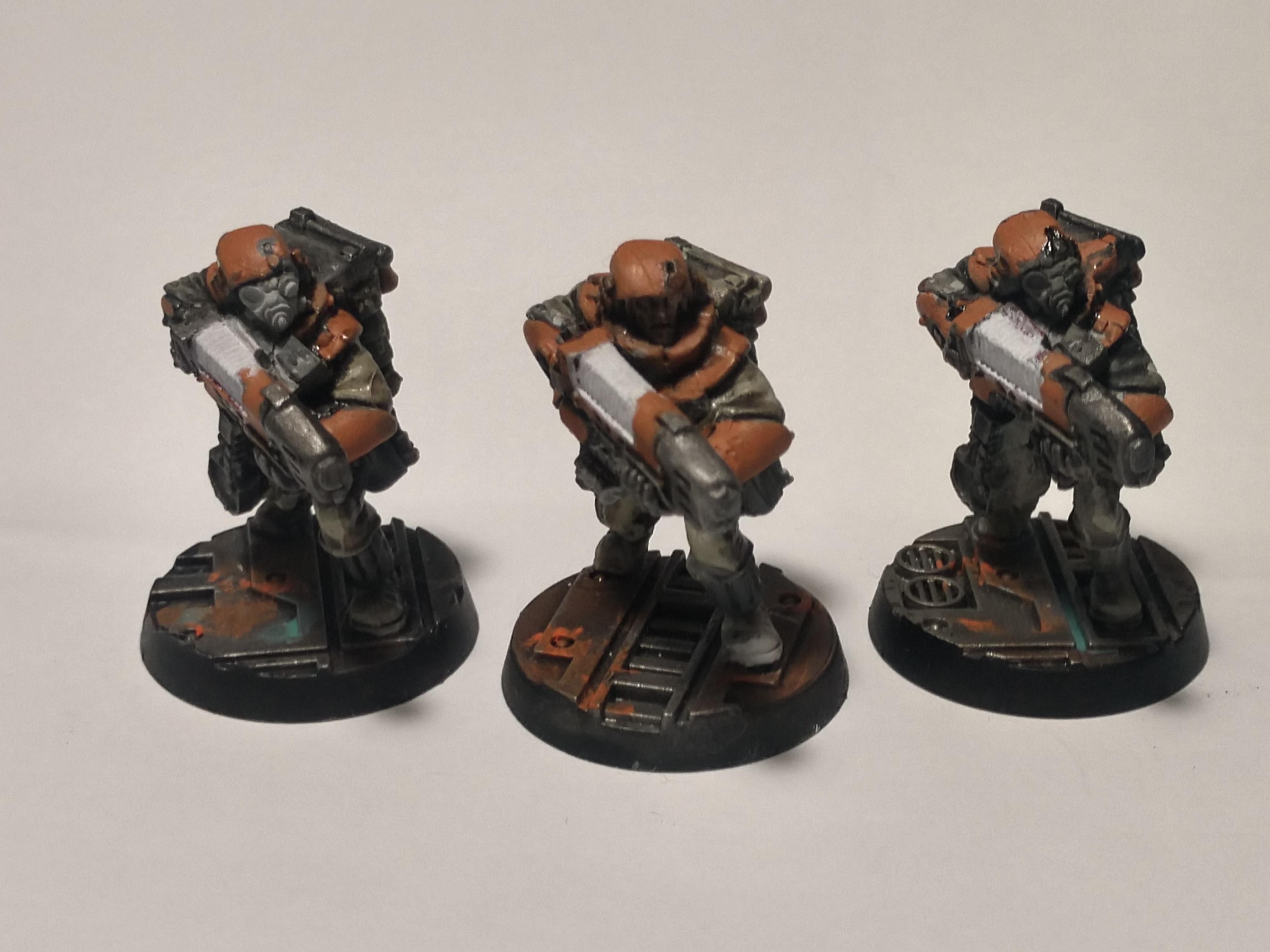 Astra Militarum, Imperial Guard, Orange, Plasma, Storm Troopers, Tempestus Scions, Warhammer 40,000