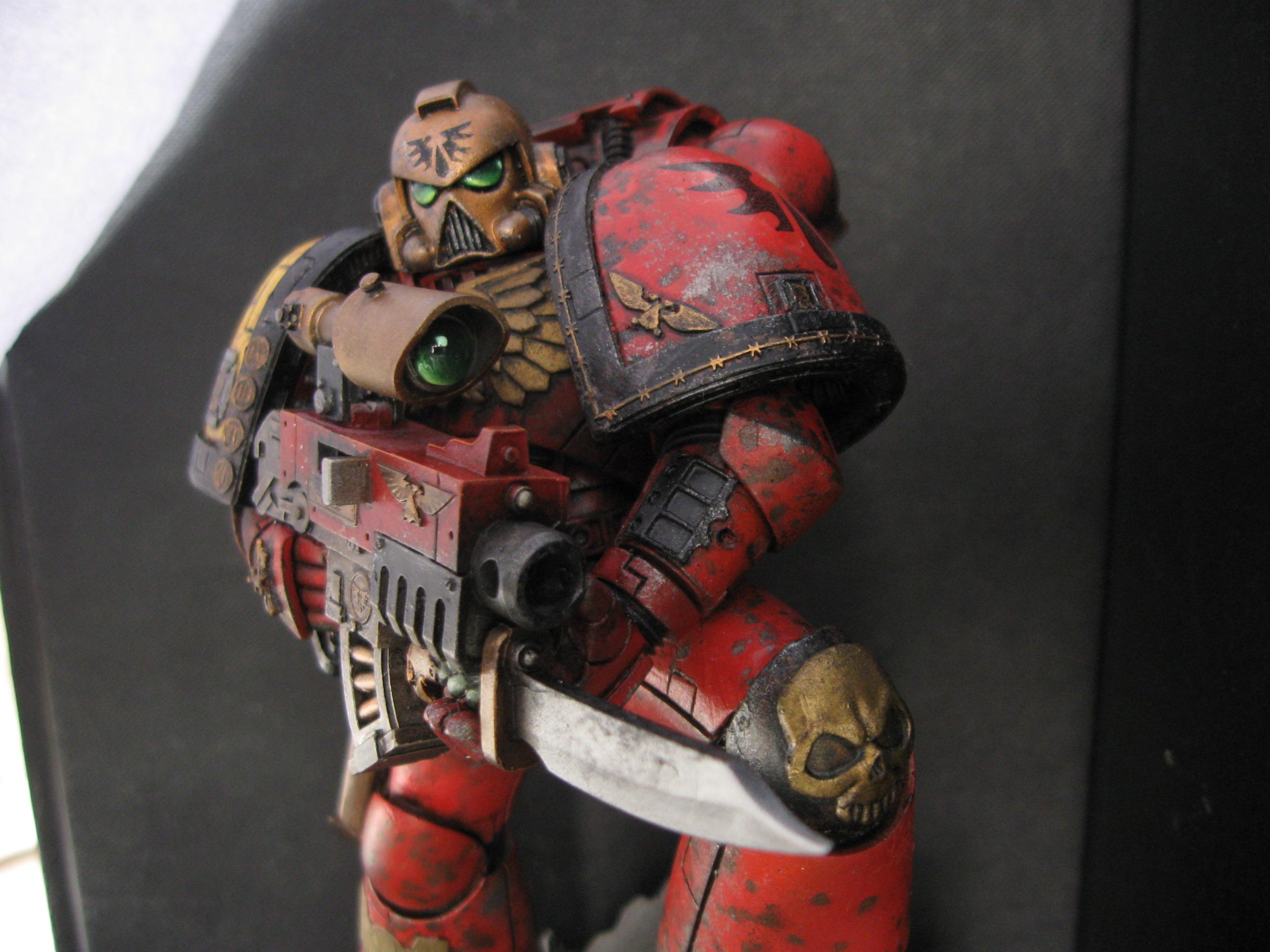 Angel, Blood, Forge World, Large, Painted, Space, Space Marines
