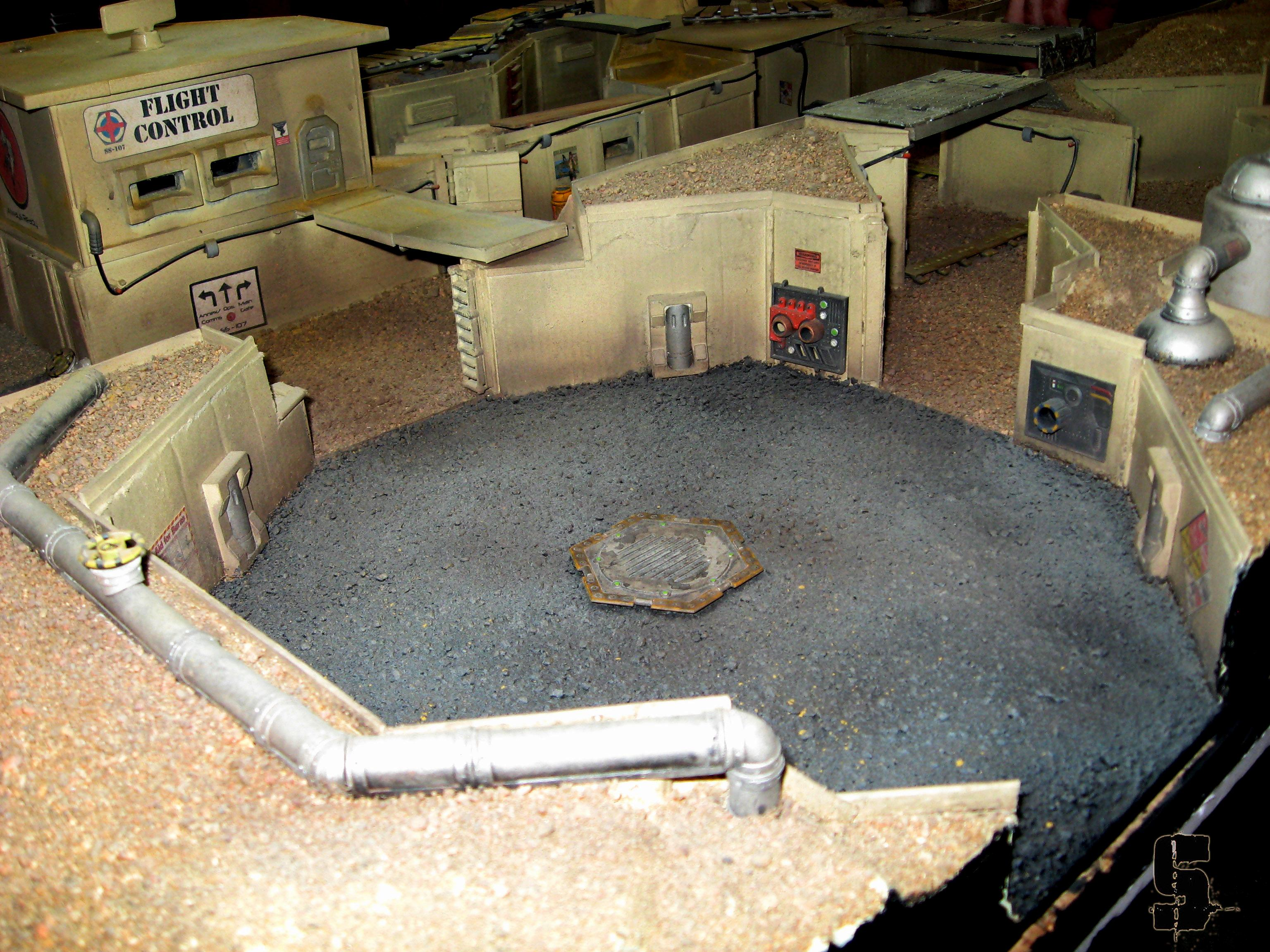 28mm, Commission, Desert, Infinity, Saw, Terrain, Trench
