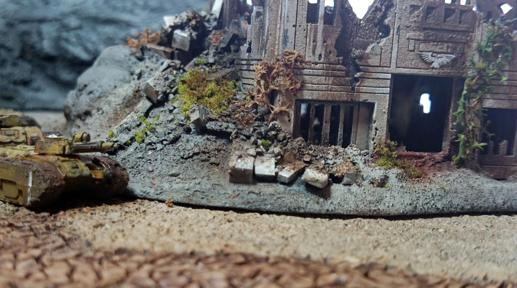 6mm, Epic, Epic40k, Imperial Guard, Rubble, Ruins, Terrain