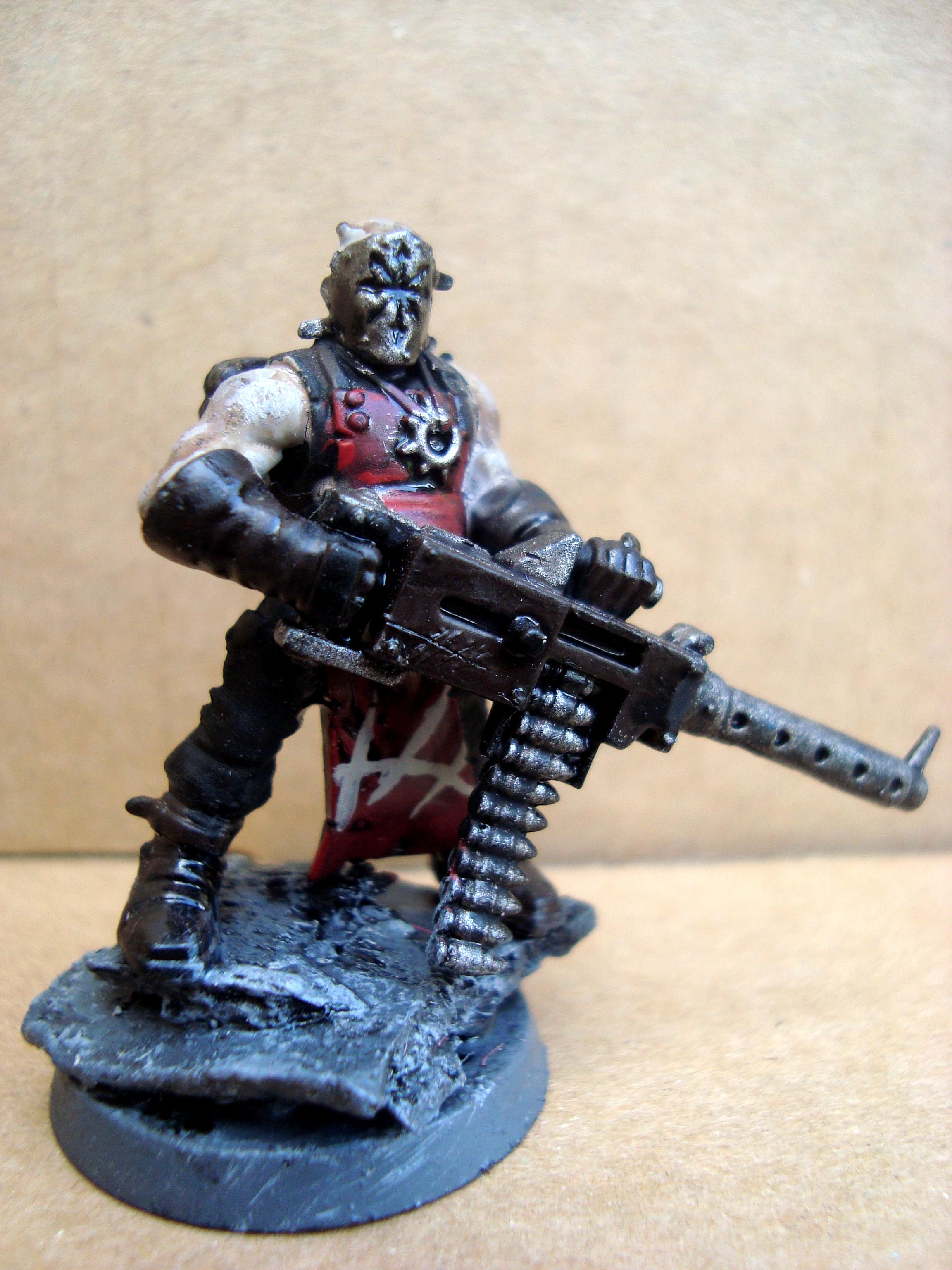 x 1 Chaos Cultist with Heavy Stubber Dark Vengeance Space Marines Warhammer 40k