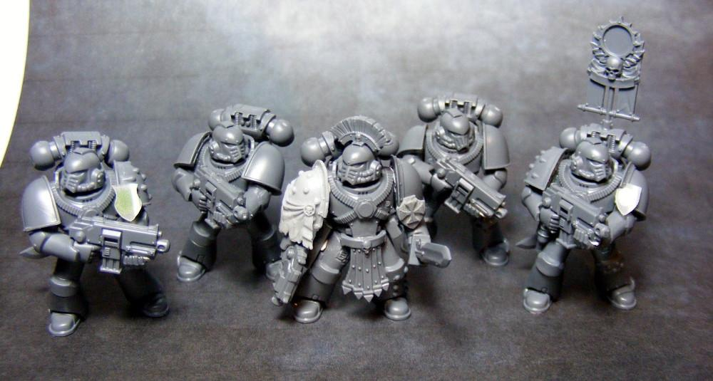 30k, 3d Printing, Space Marines - first 5 tacticals