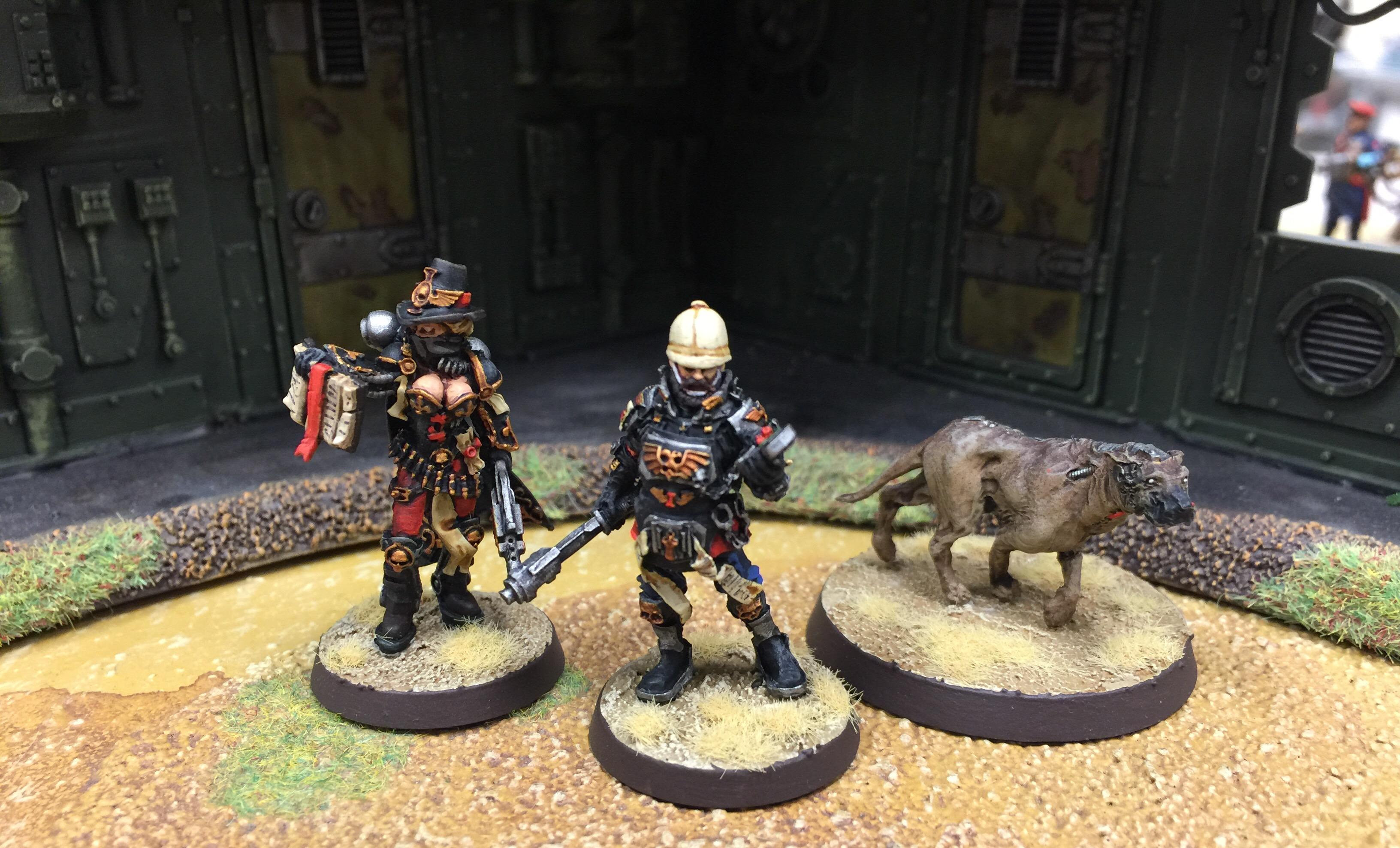 Adeptus Arbites, British, Female, Inquisitor, Wargames