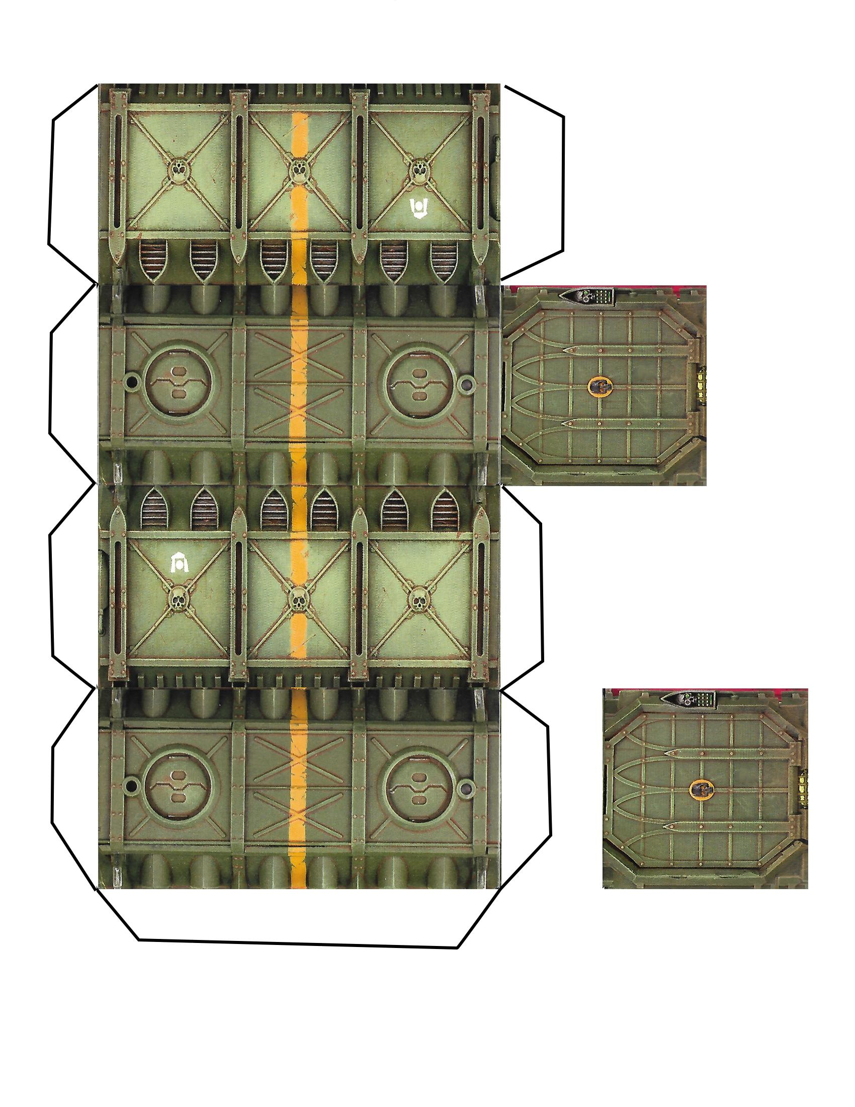 photo relating to Printable Terrain called Armored Bins, Printable., Terrain - Armored Munitorum