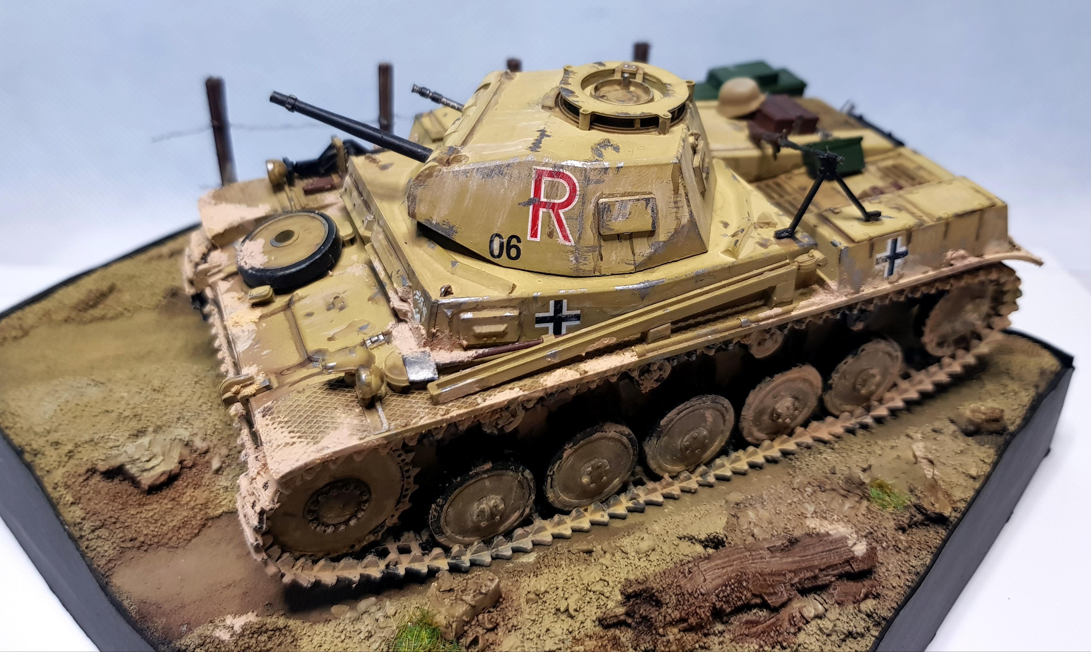 Afrika Korps, Allies, Armor, Axis, Diorama, Light Tank