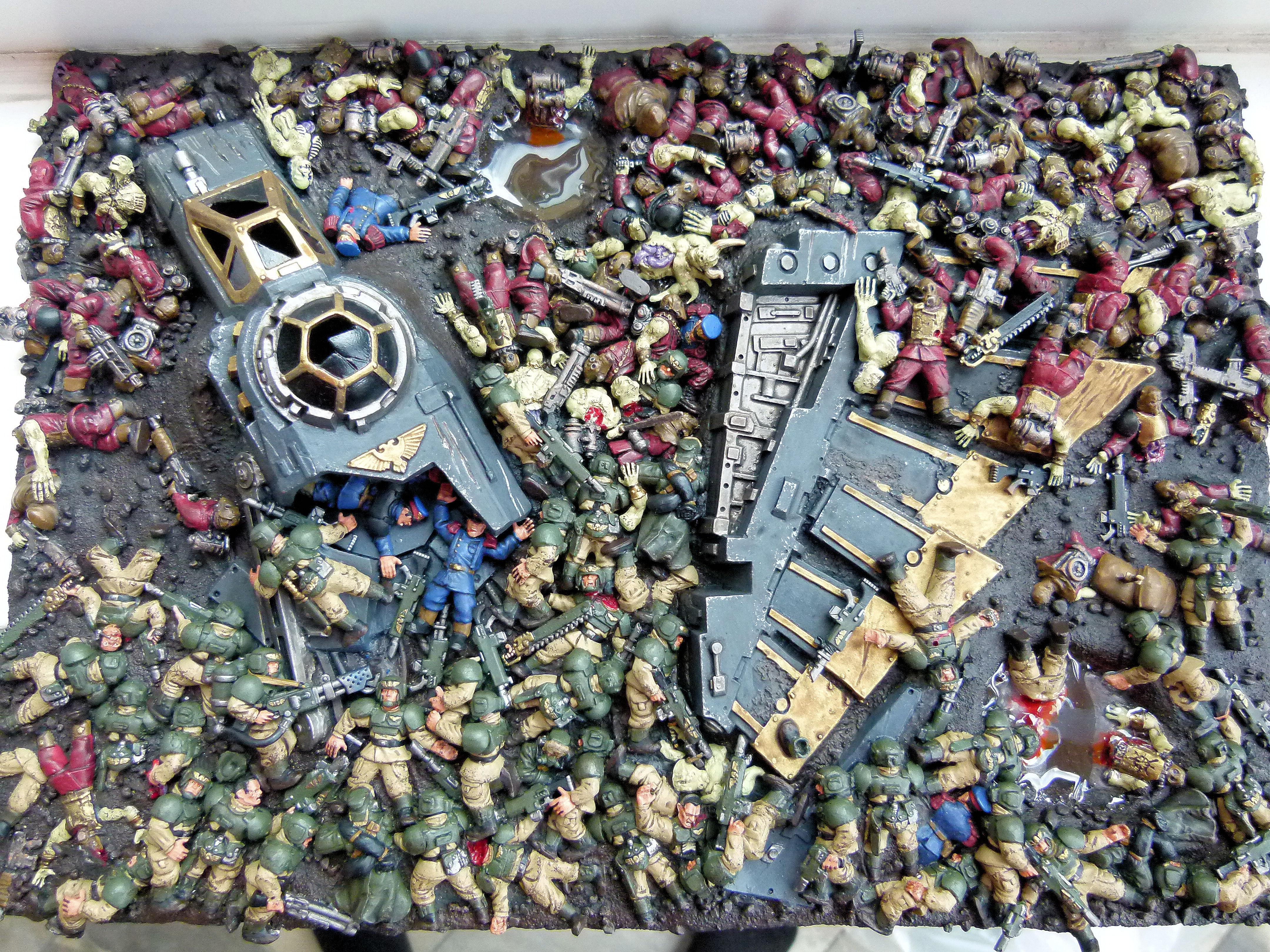 Chaos, Diarama, Imperial Guard - Chaos Vs Imperial Guard